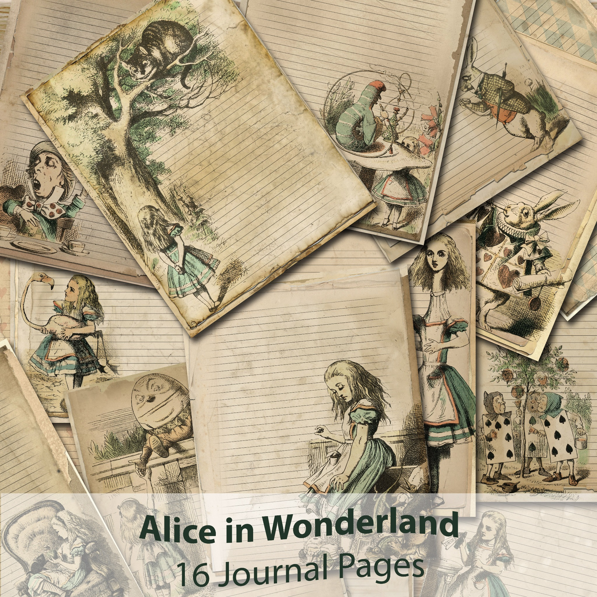 ALICE in WONDERLAND Journal 16 Pages