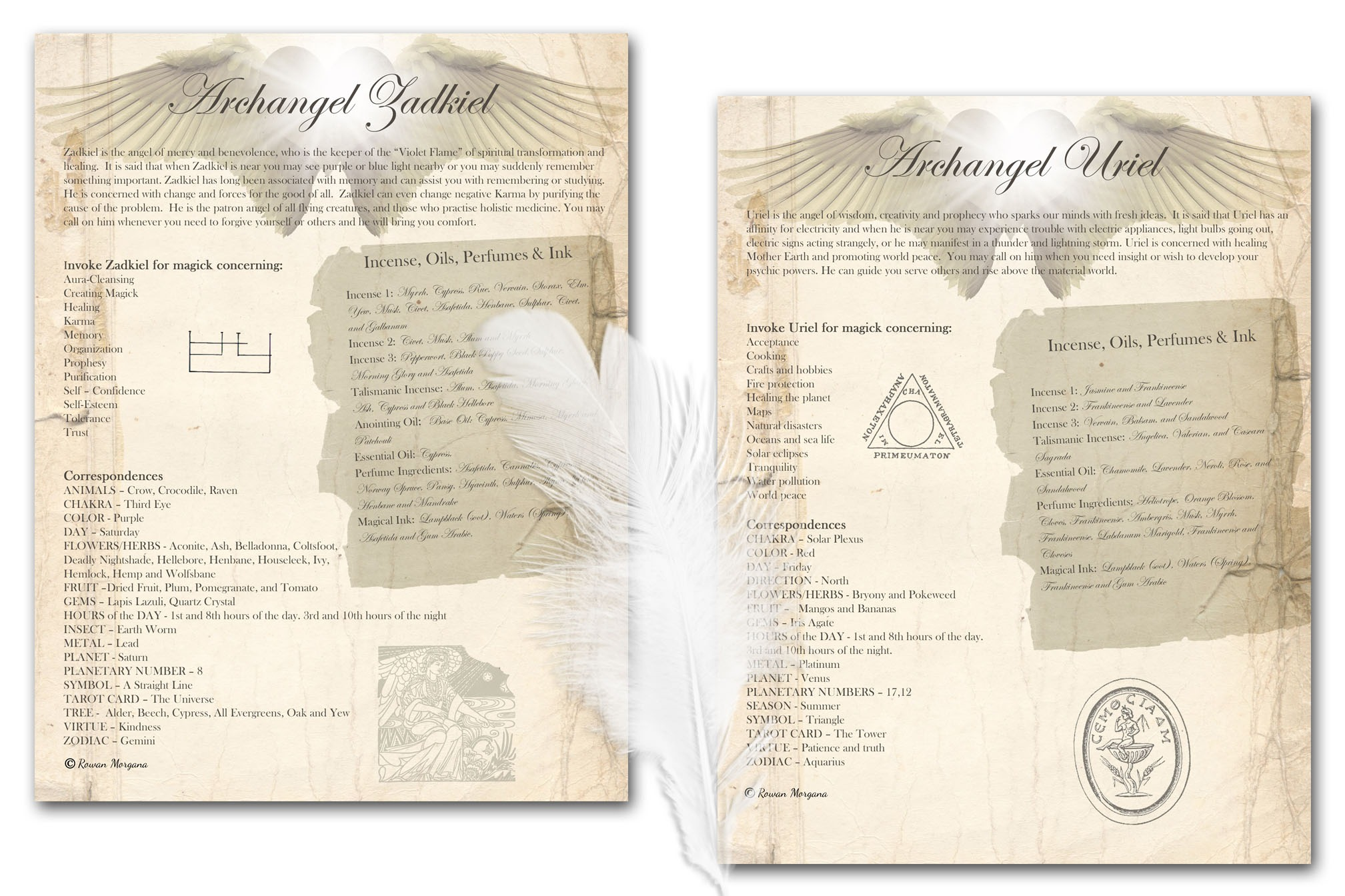 7 ARCHANGELS  7 Printable Pages