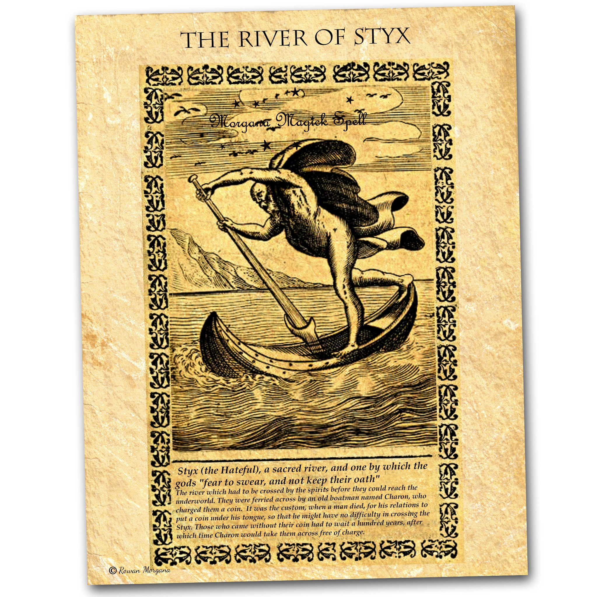 The RIVER of STYX PARCHMENT