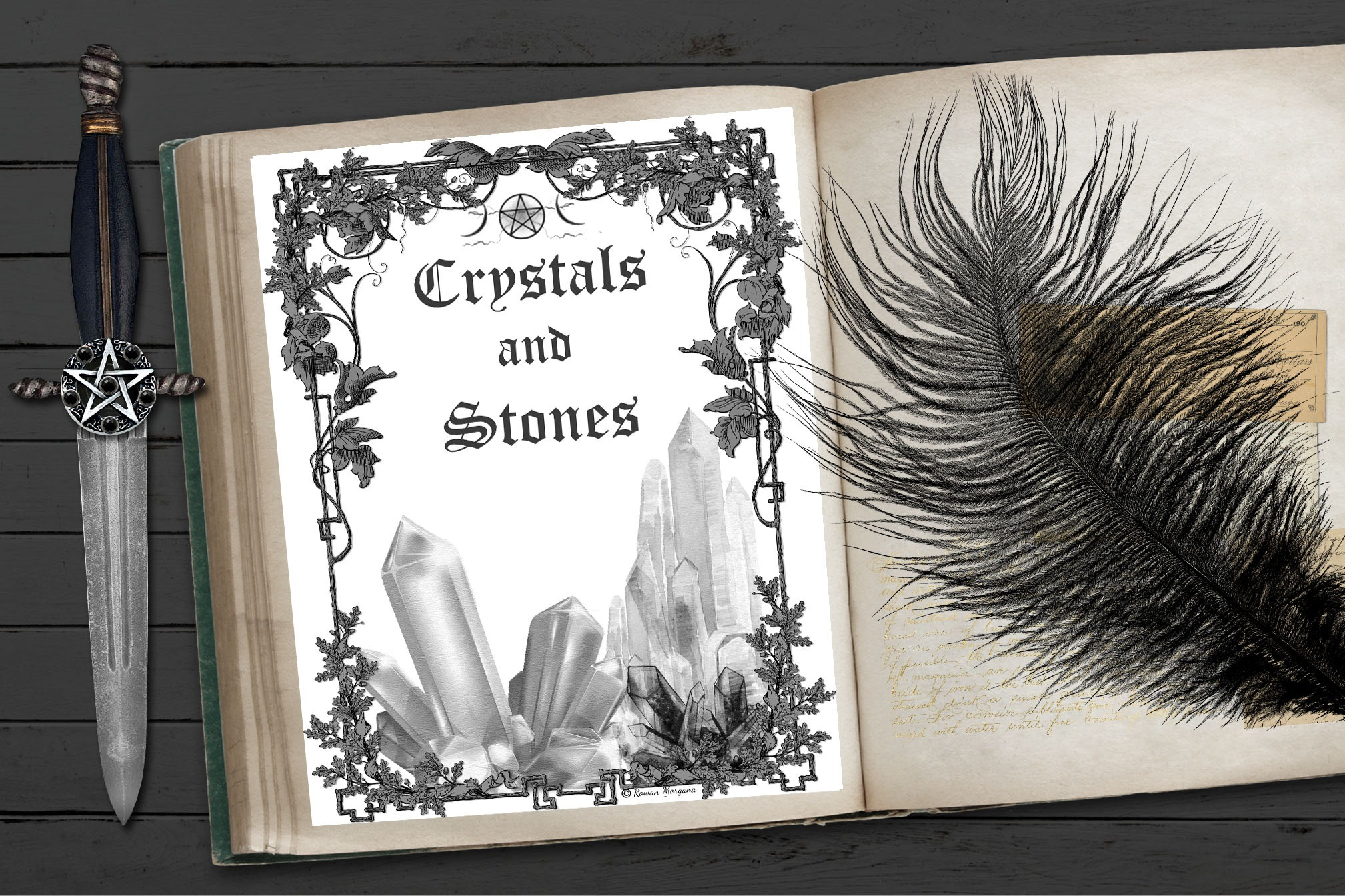 CRYSTALS and STONES Book of Shadows Title Page