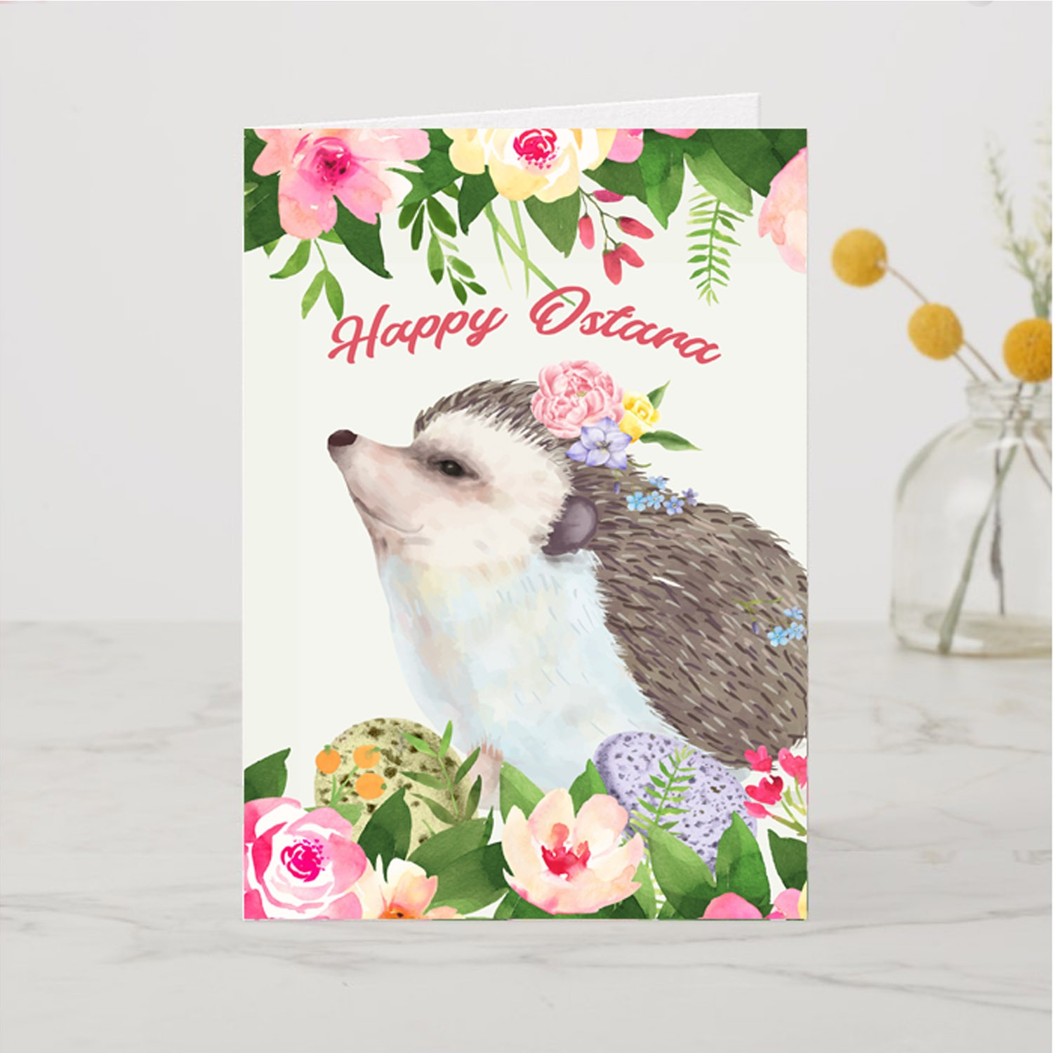 OSTARA HEDGEHOG Pagan Greeting Card