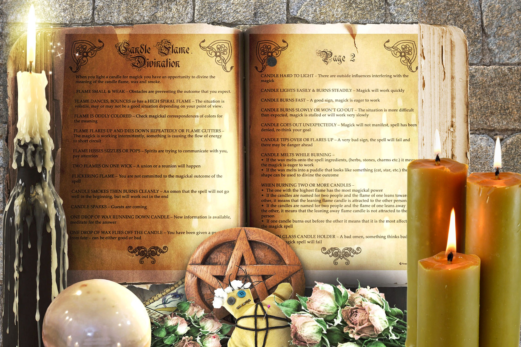 CANDLE FLAME DIVINATION 2 Pages