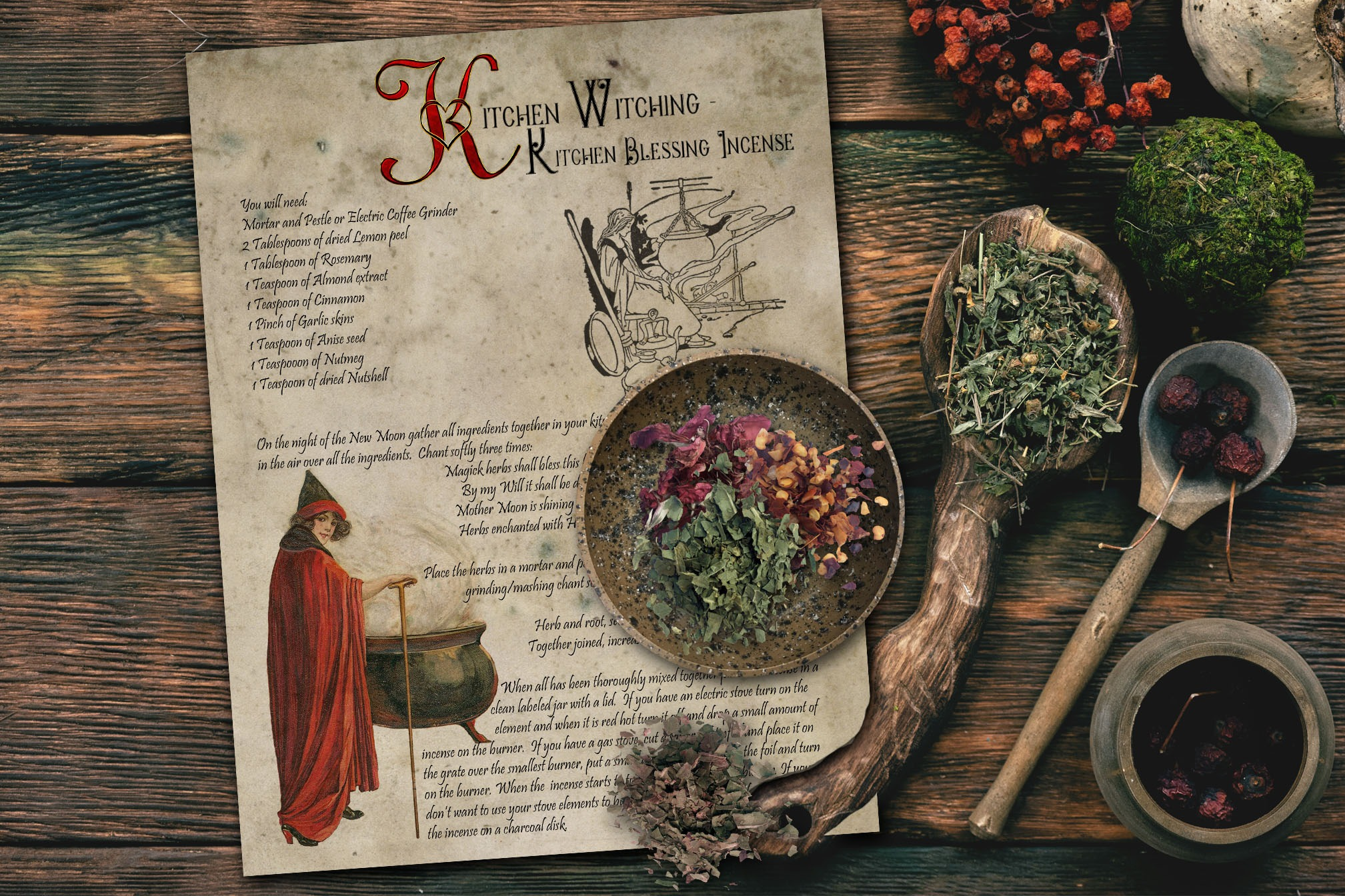 KITCHEN WITCHING - Kitchen Blessing Incense