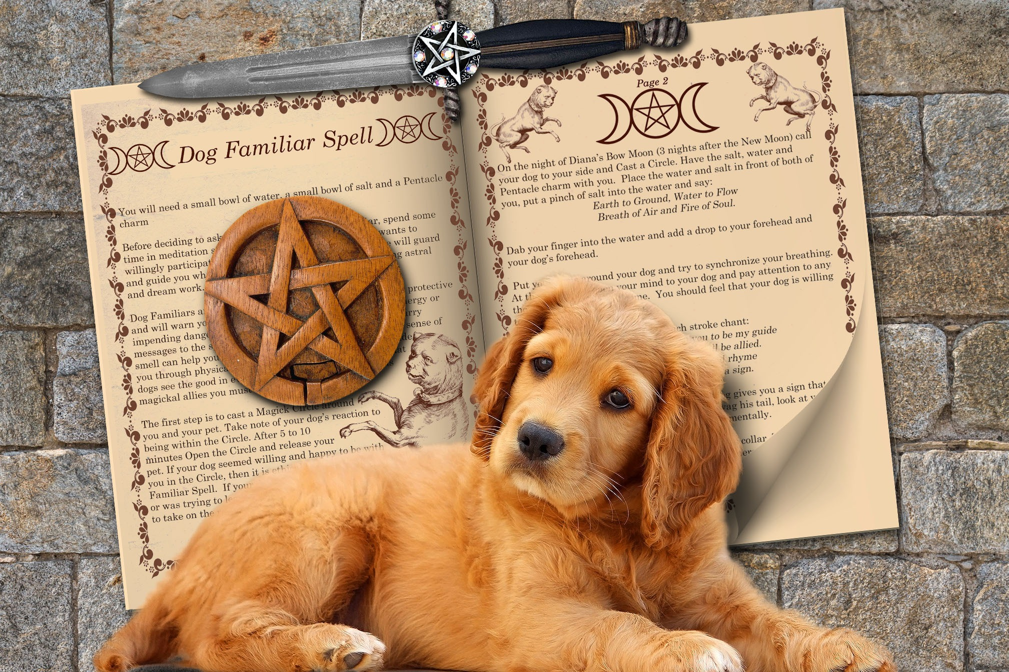 DOG FAMILIAR SPELL 2 Pages