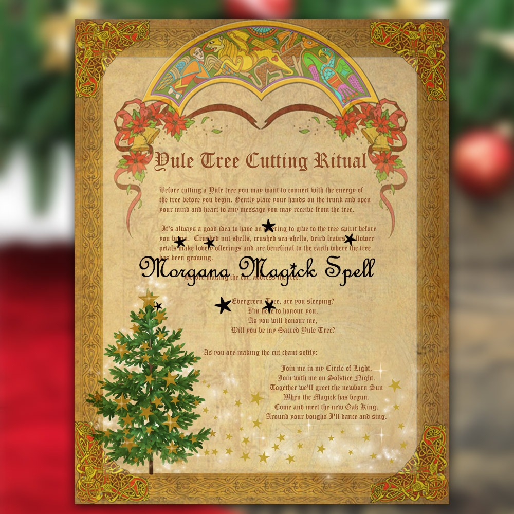 YULE TREE RITUALS For Cutting & Blessing