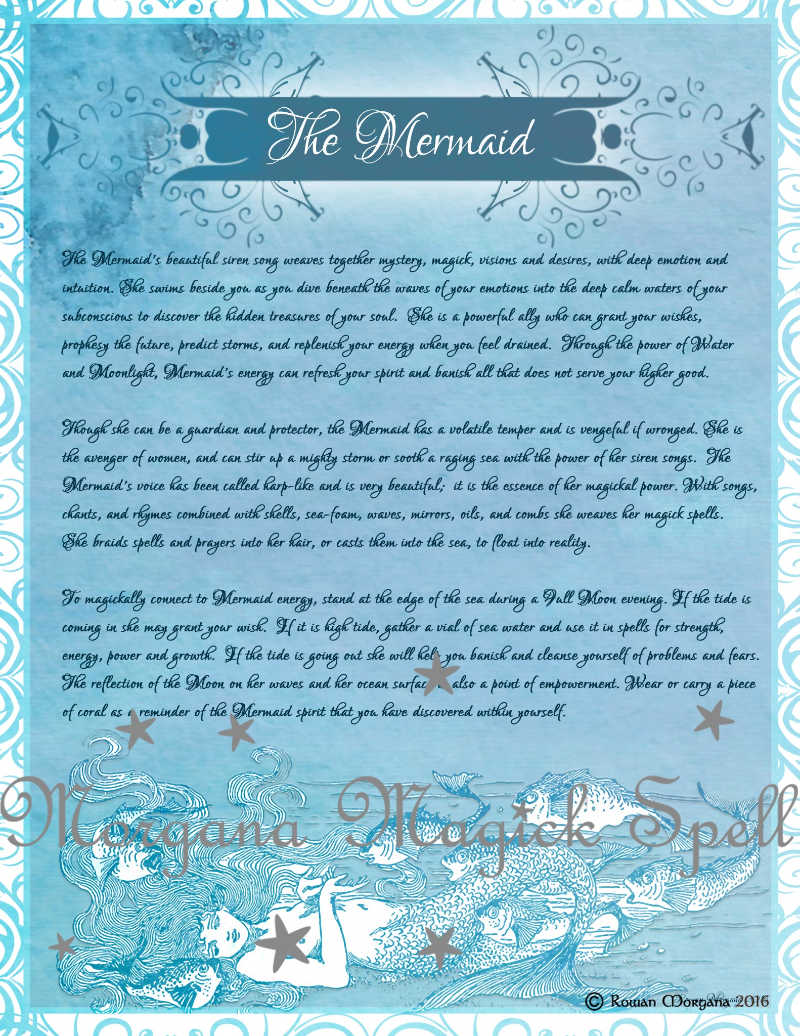 THE MERMAID FAERIE Realm of the Fey Lore