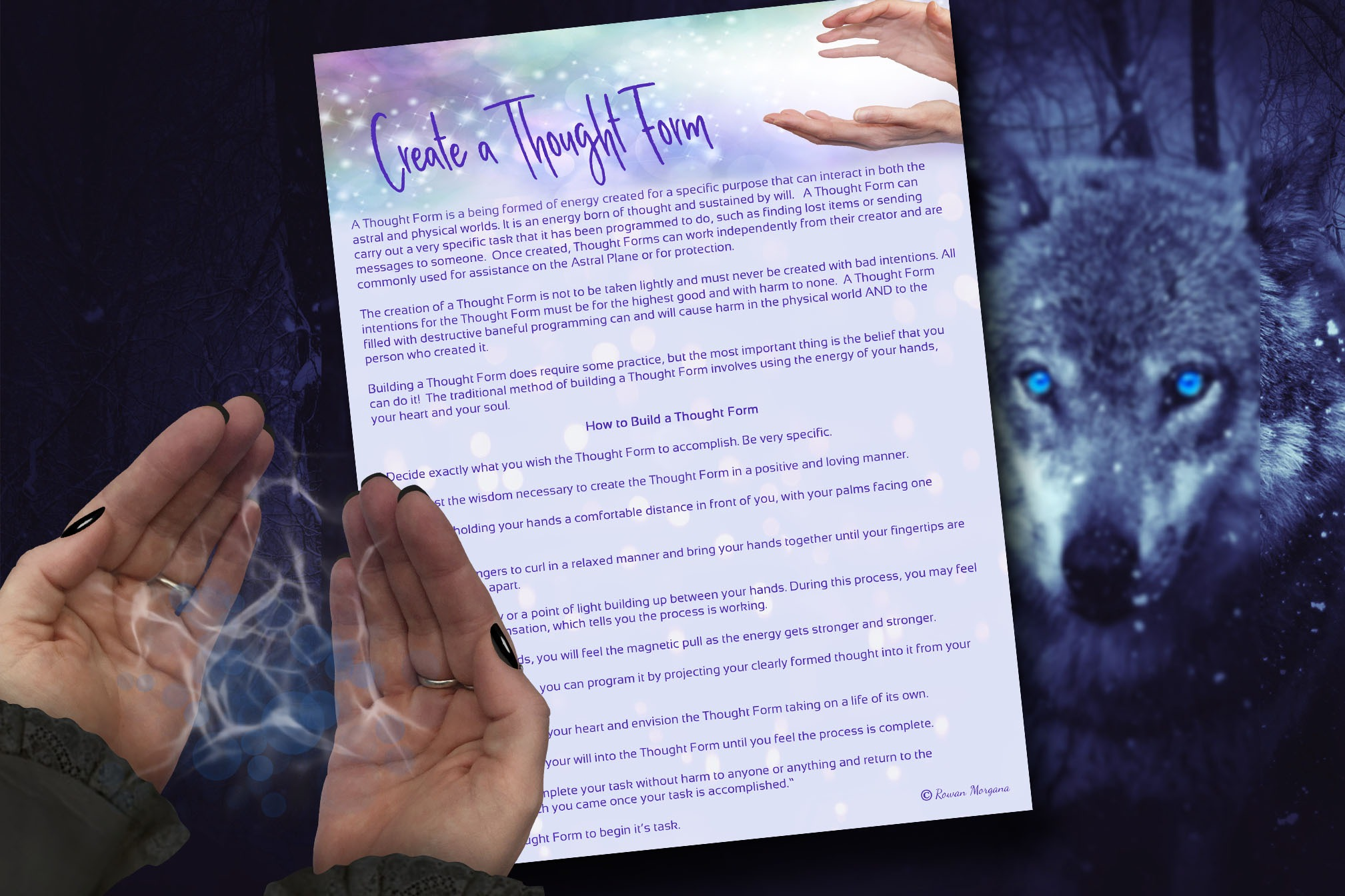 CREATE a THOUGHT FORM - How To