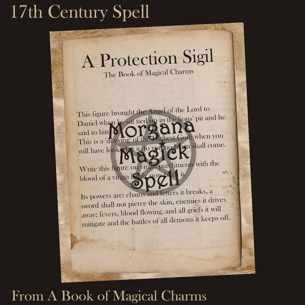 A PROTECTION SIGIL  Ancient Handwritten Witchcraft Spell