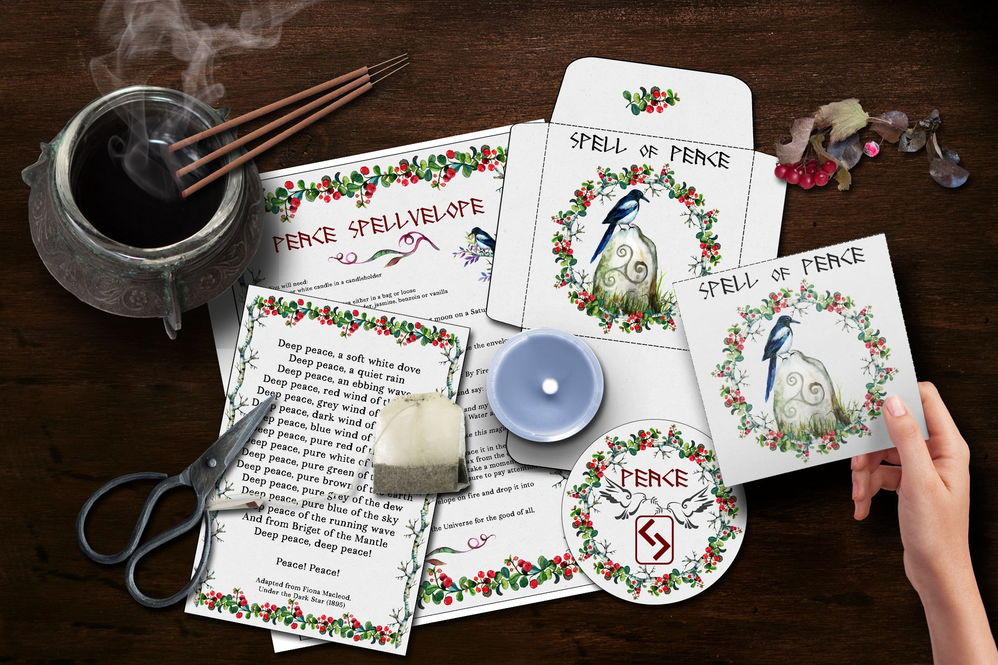 PEACE SPELLVELOPE  *DIY Envelope Spell Kit*