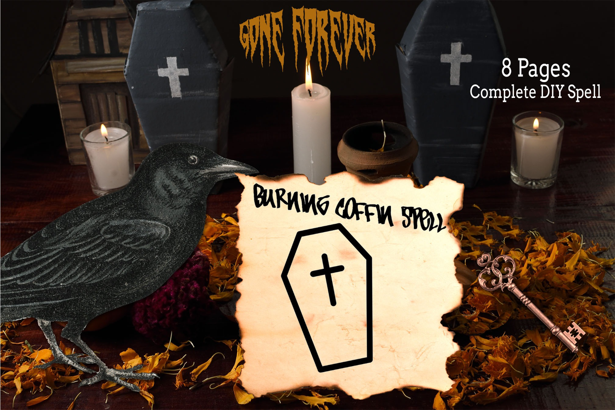 The BURNING COFFIN SPELL | 8 page Word Document