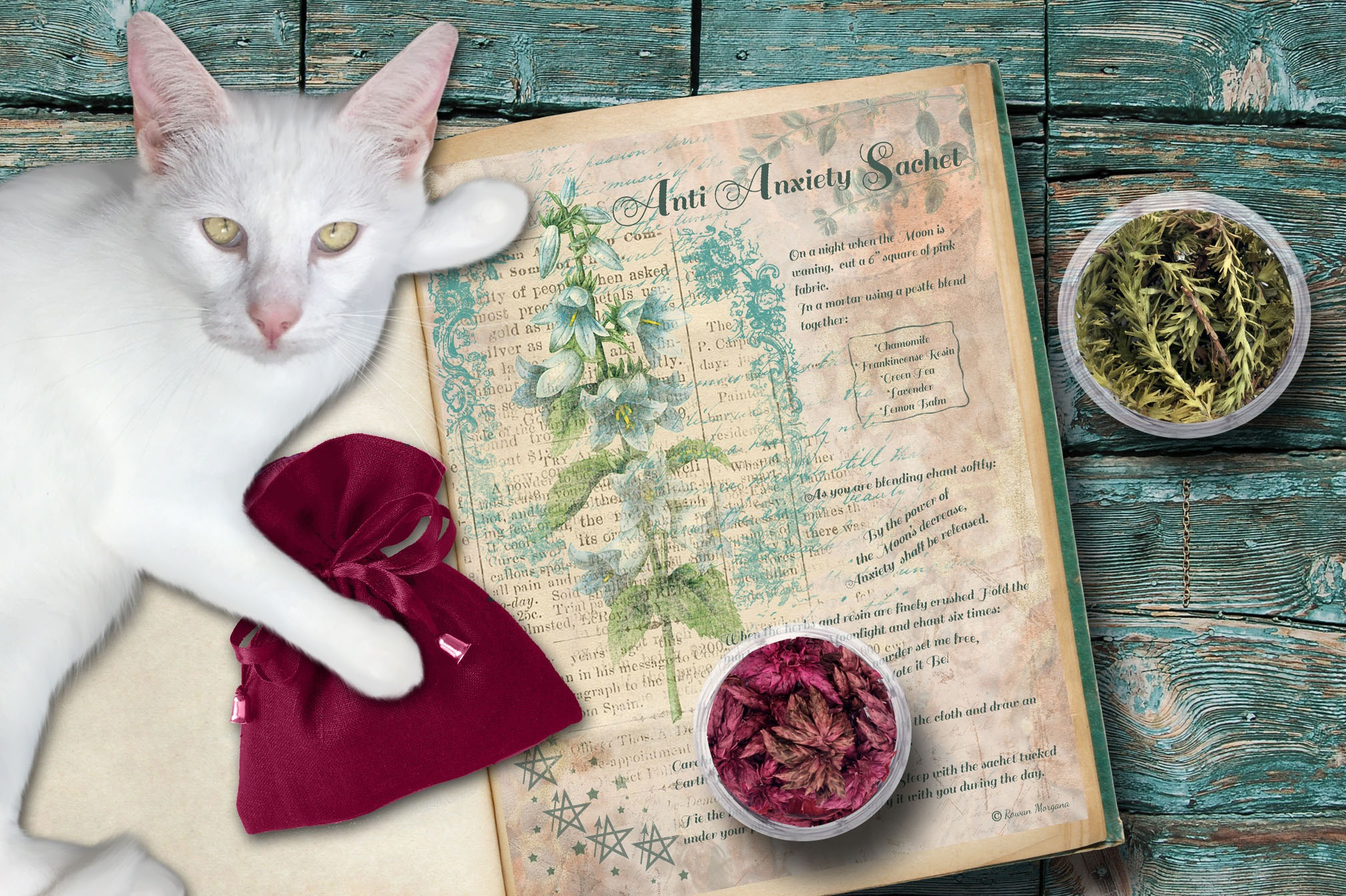 ANTI ANXIETY SACHET  Recipe and Spell