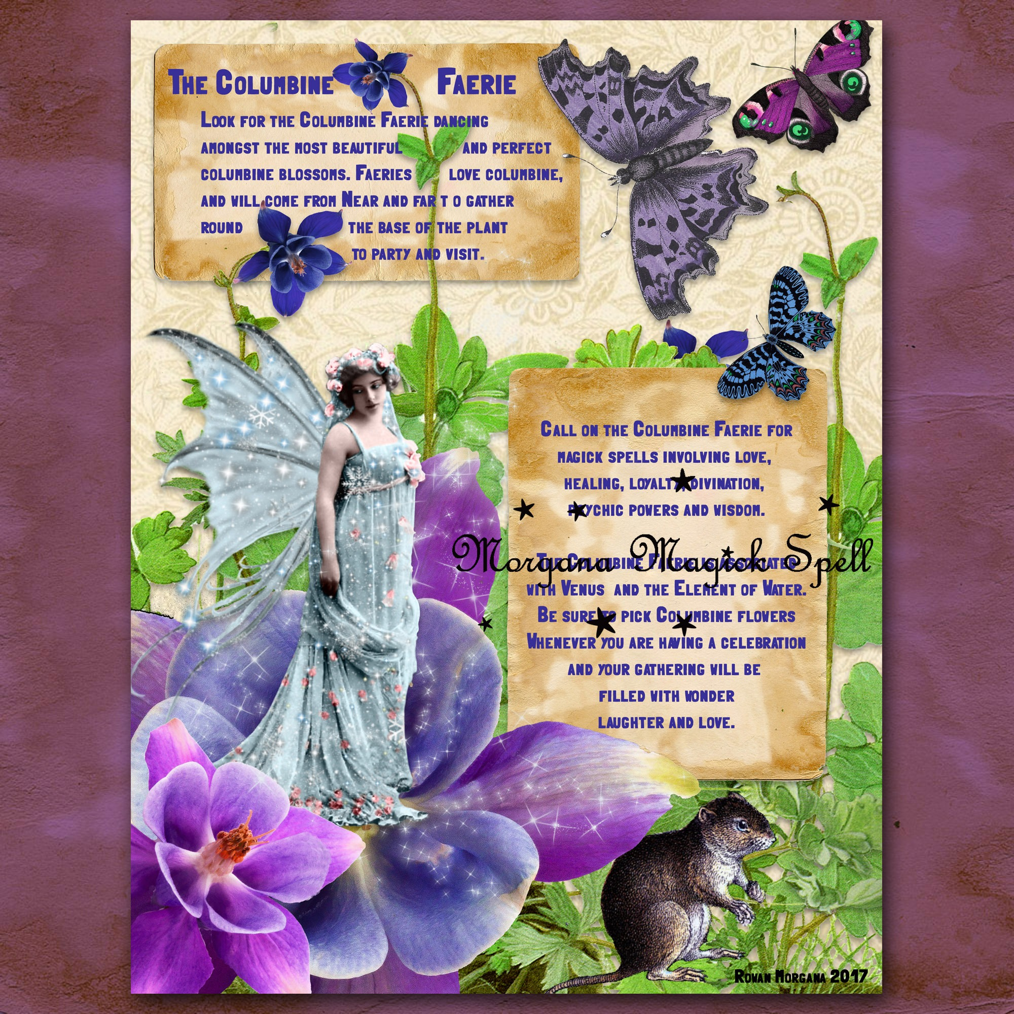 The COLUMBINE FAERIE Realm of the Fey Lore