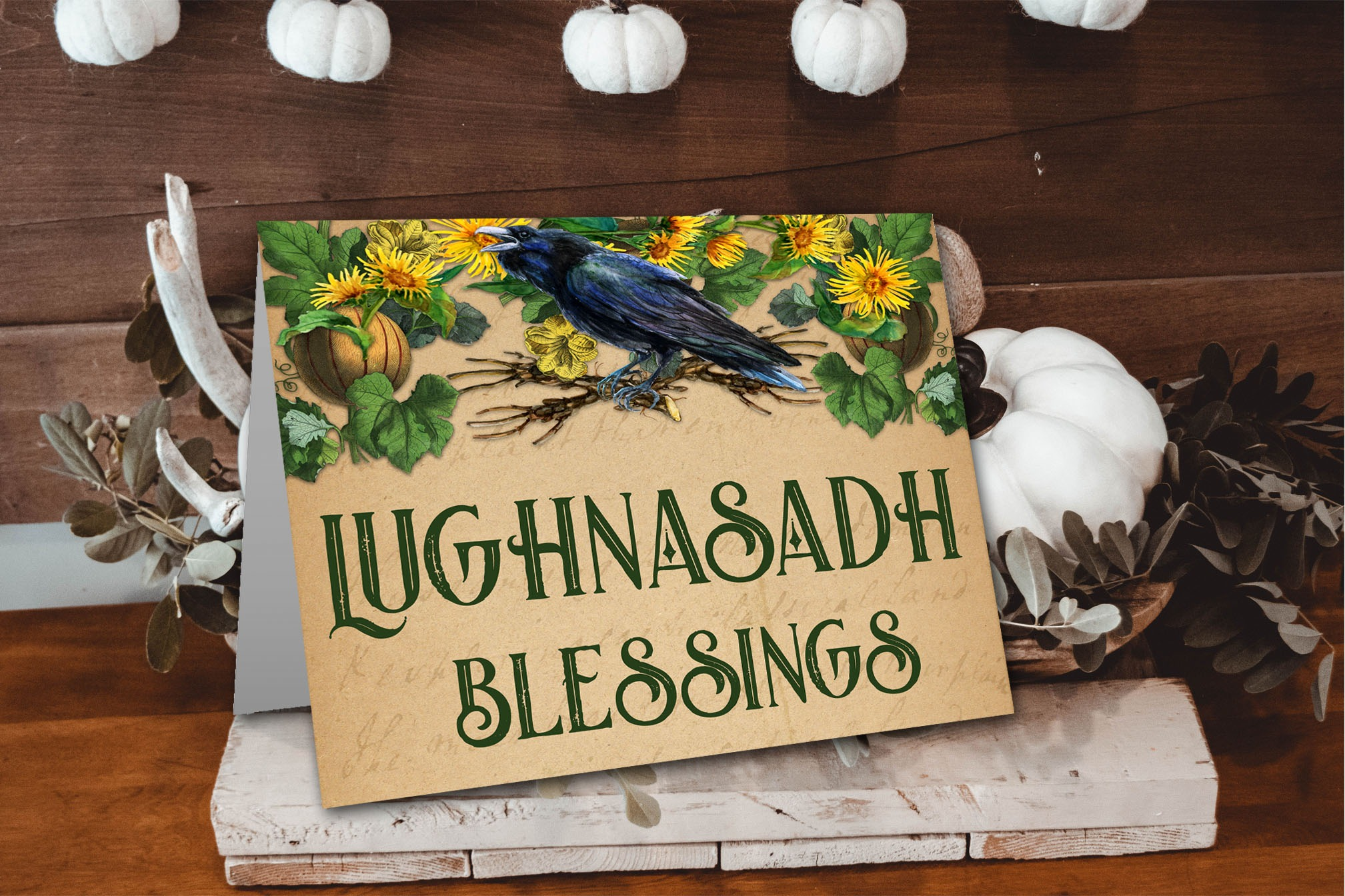 LUGHNASADH BLESSINGS | Pagan Greeting Card Printable