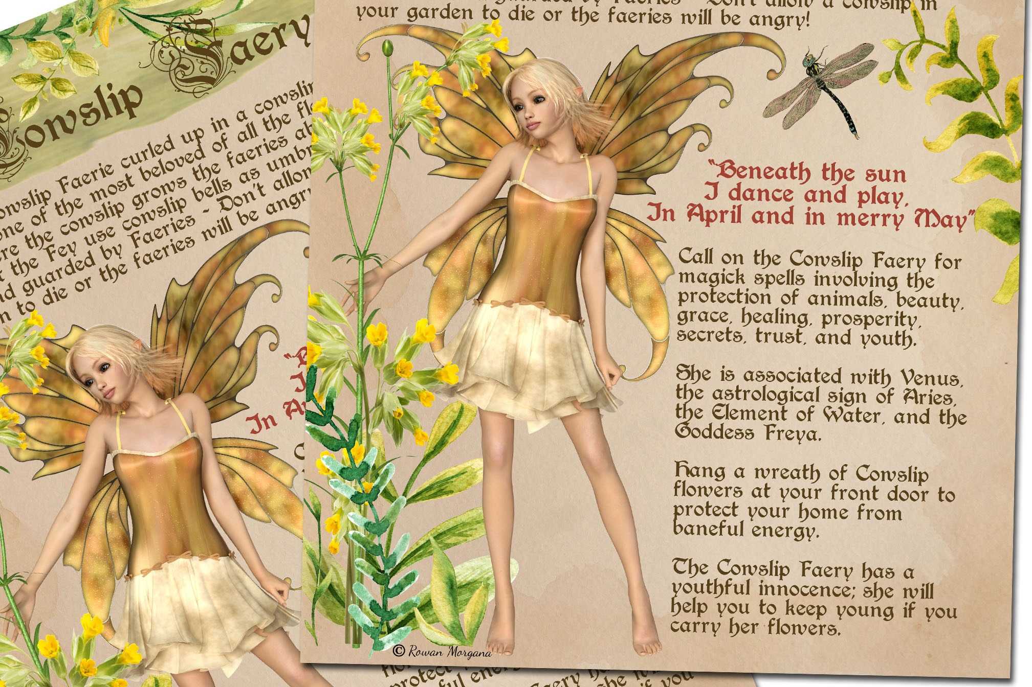 COWSLIP FAERIE   Realm of the Fey
