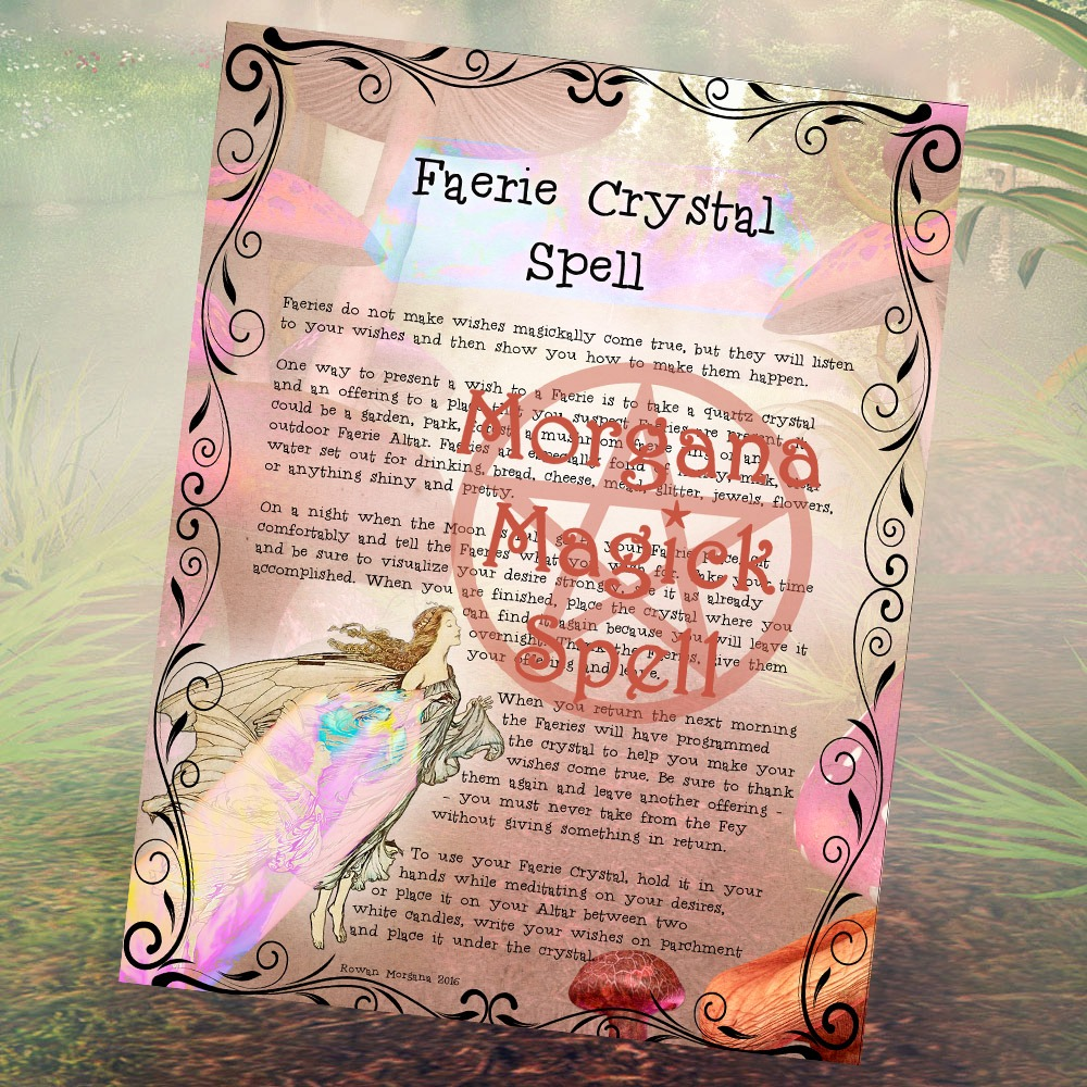 FAERIE CRYSTAL SPELL Realm of the Fey Lore