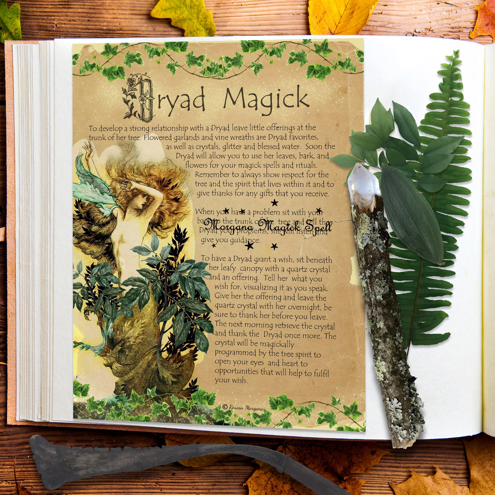 DRYAD FAERIE MAGICK Realm of the Fey Lore