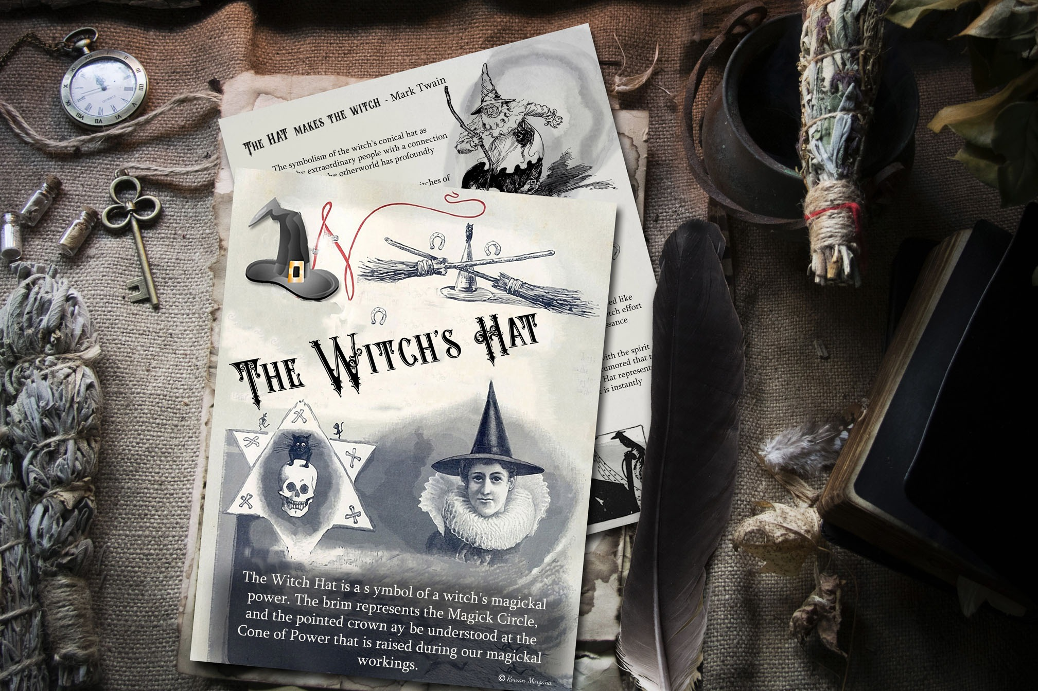 THE WITCH'S HAT - 2 Pages