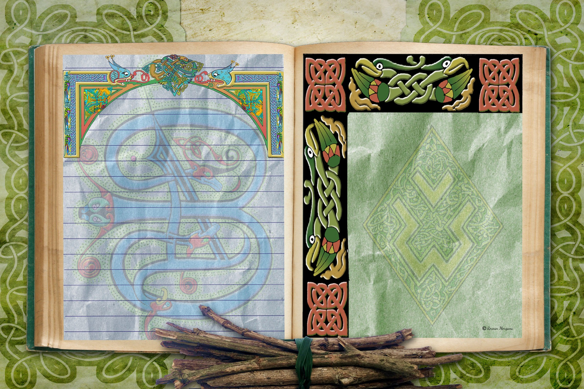 CELTIC KNOT 6 Pages for Book of Shadows