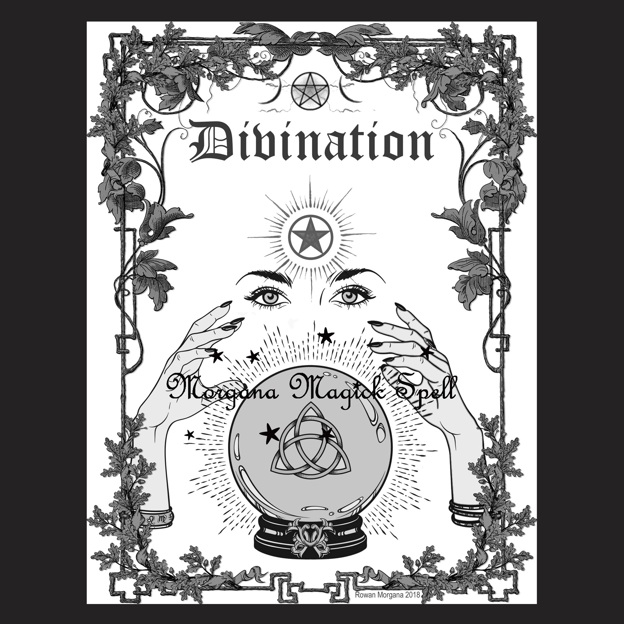 DIVINATION Book of Shadows Title Page