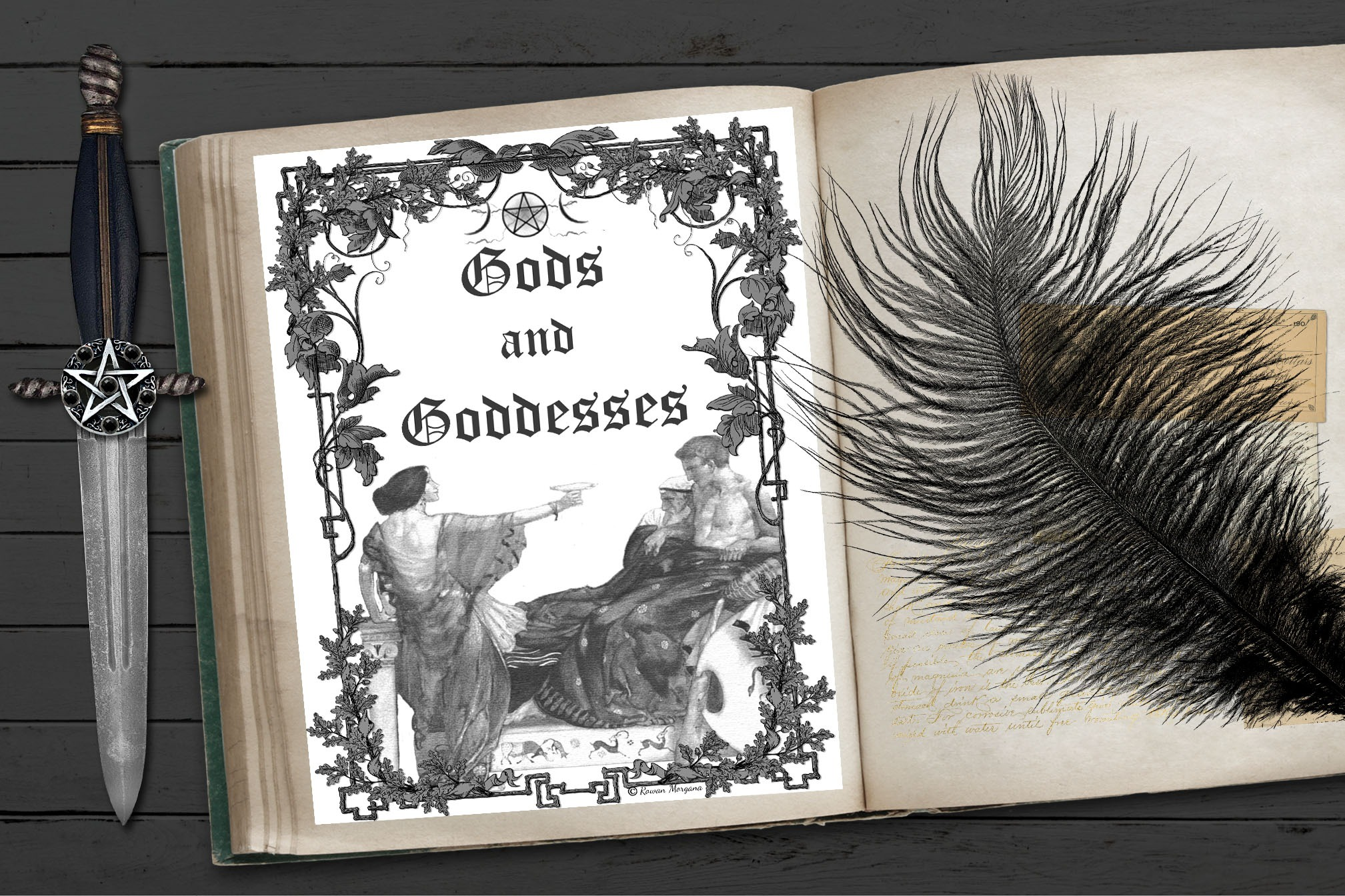 GODS & GODDESSES Book of Shadows Title Page