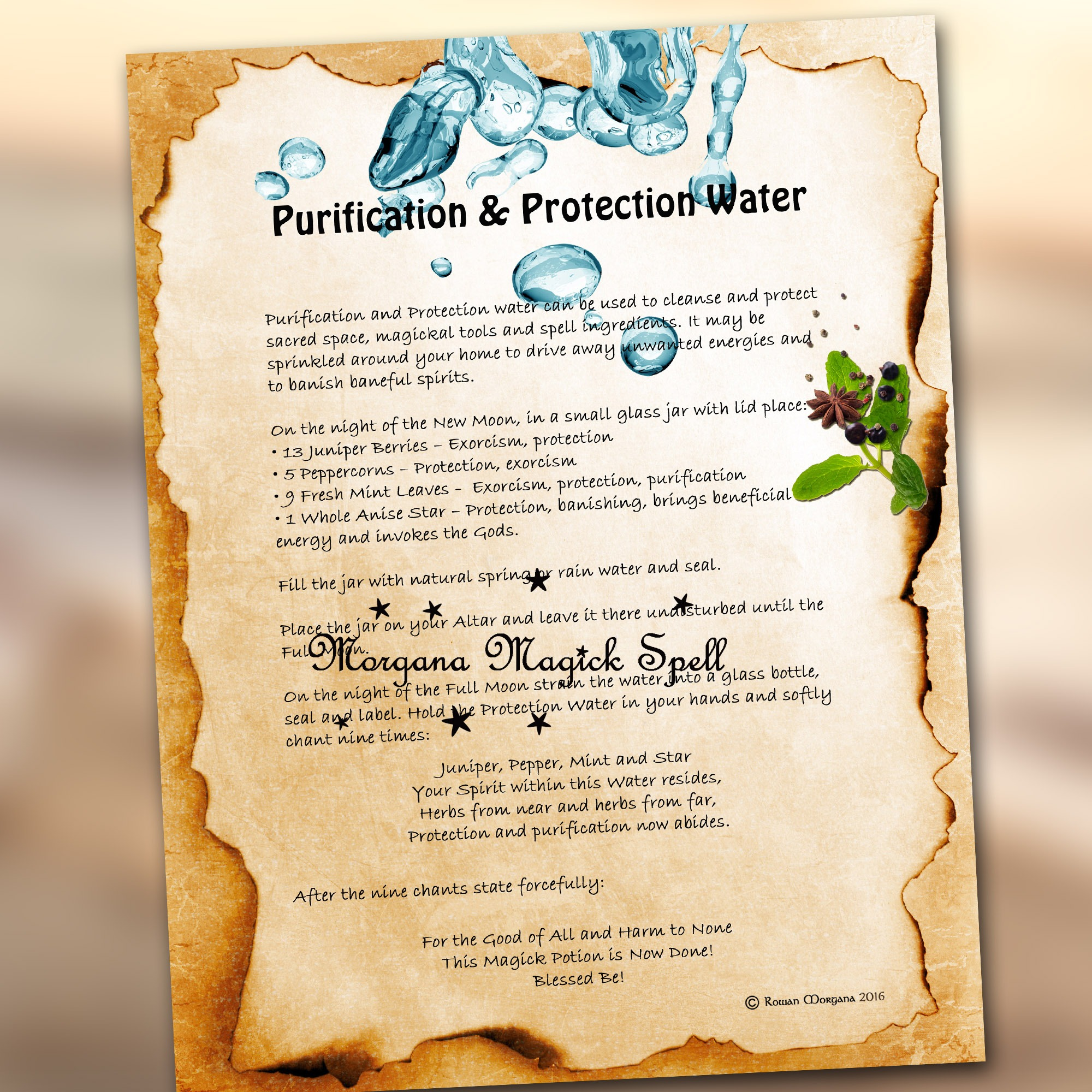 PURIFICATION  and PROTECTION WATER