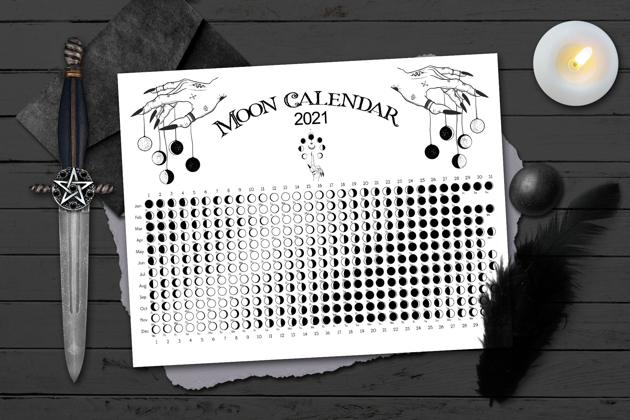 2021 WITCH MOON CALENDAR