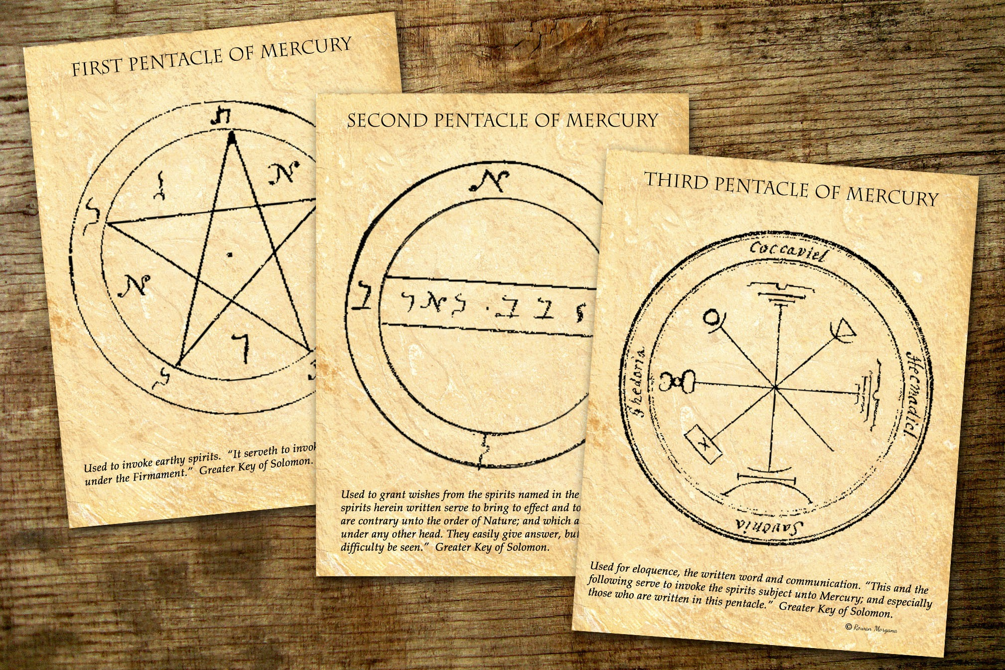MERCURY Pentacles of Solomon