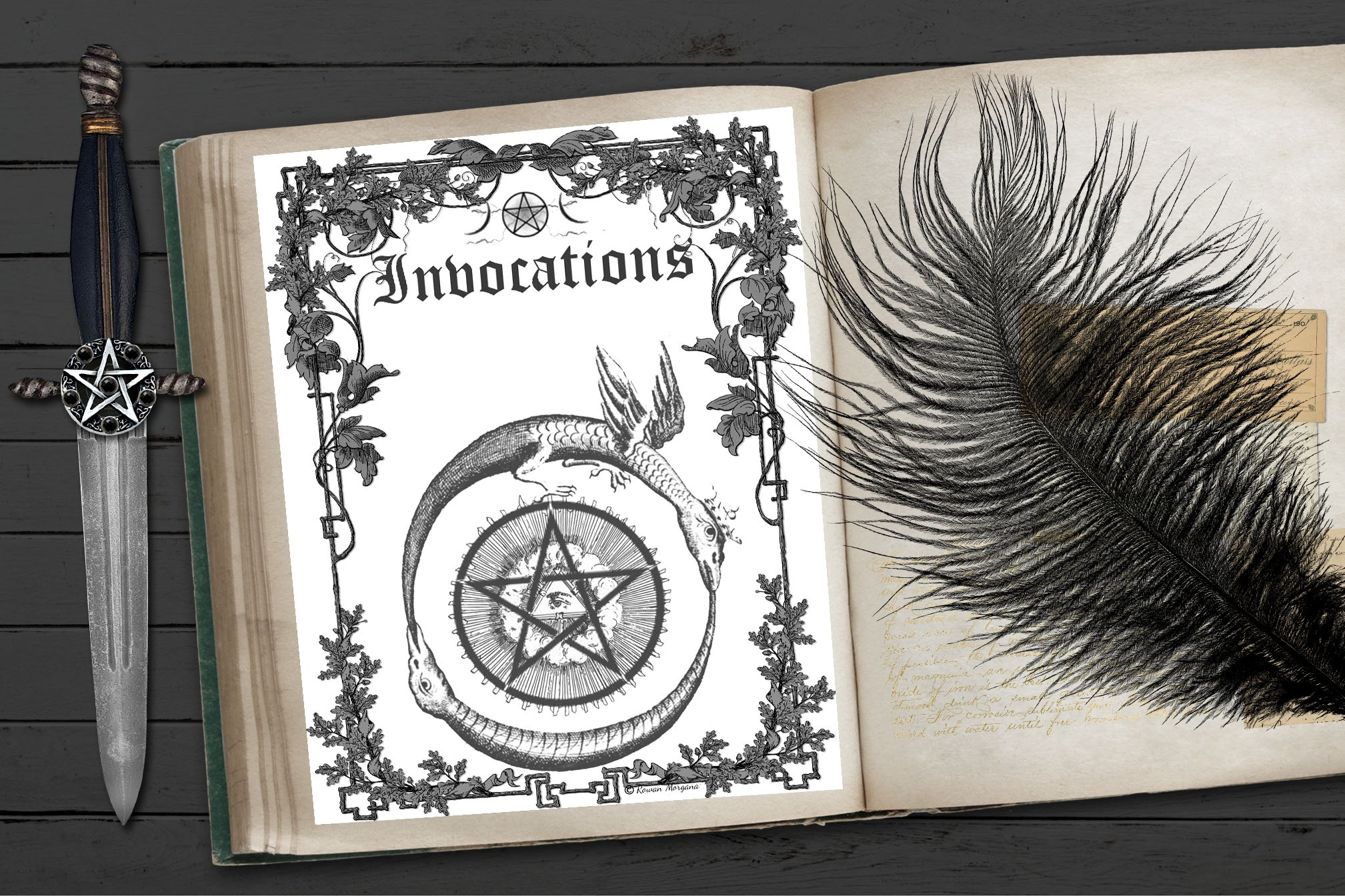 INVOCATIONS Book of Shadows Title Page