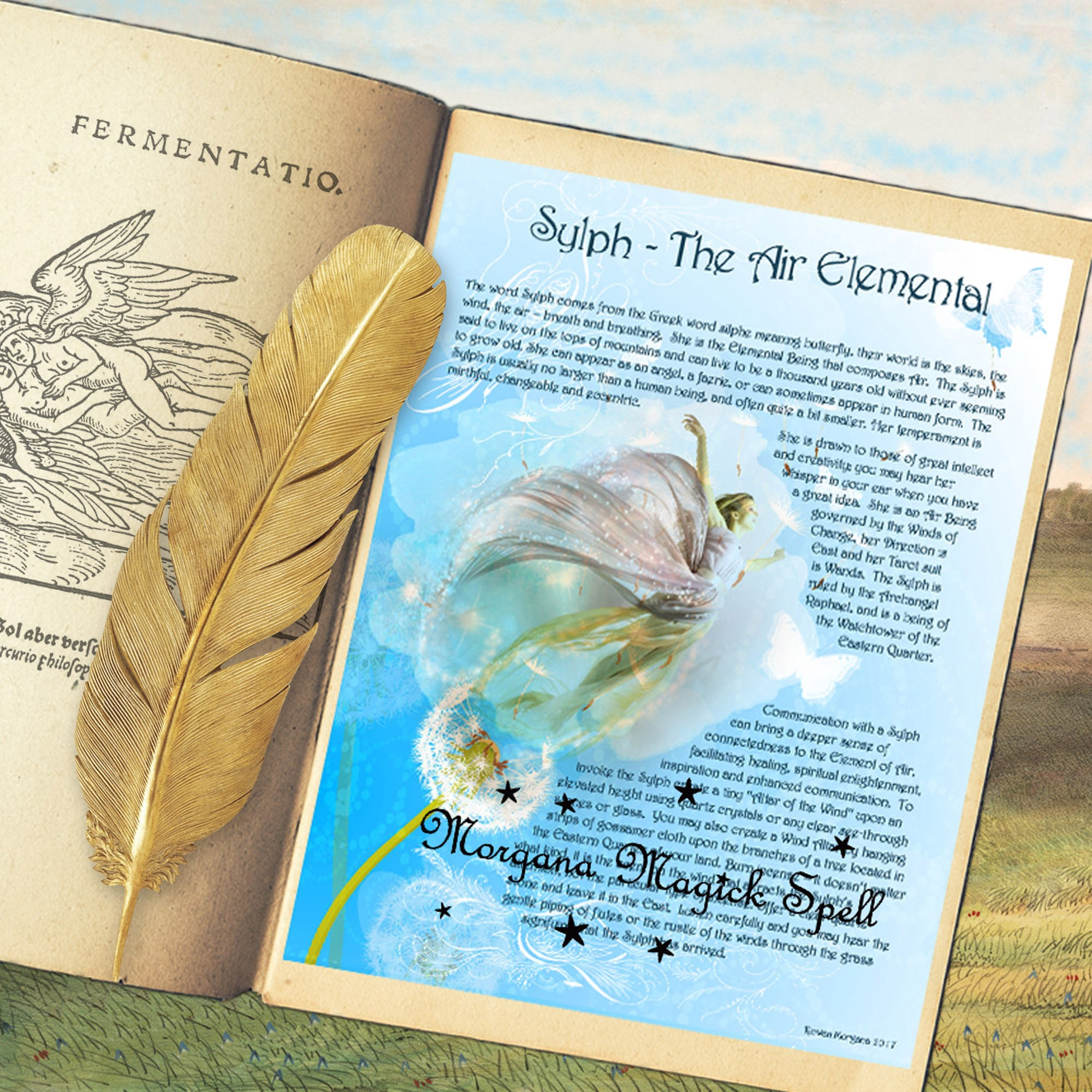 SYLPH the AIR ELEMENTAL  Realm of the Fey Lore