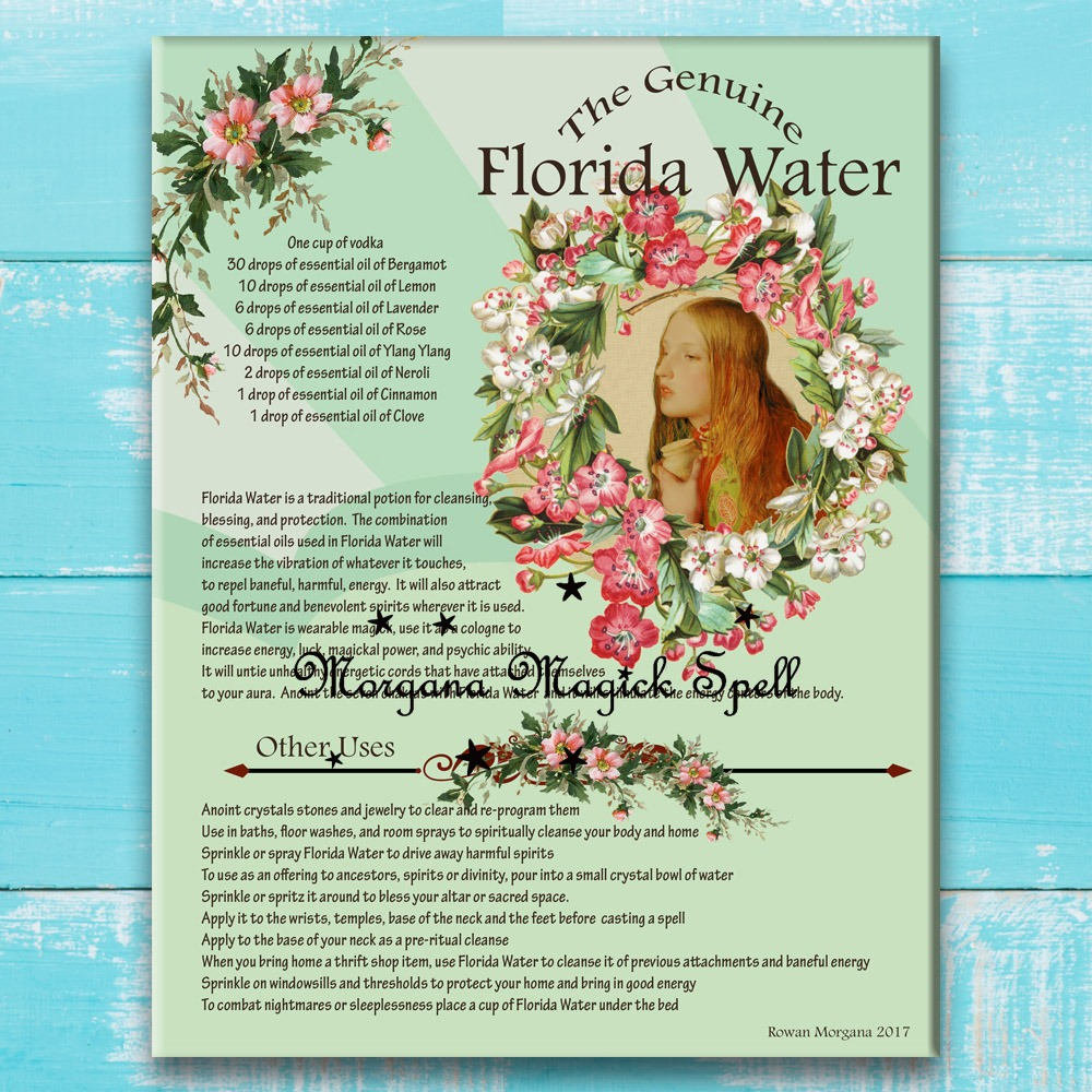 FLORIDA WATER COLOGNE RECIPE  with Labels