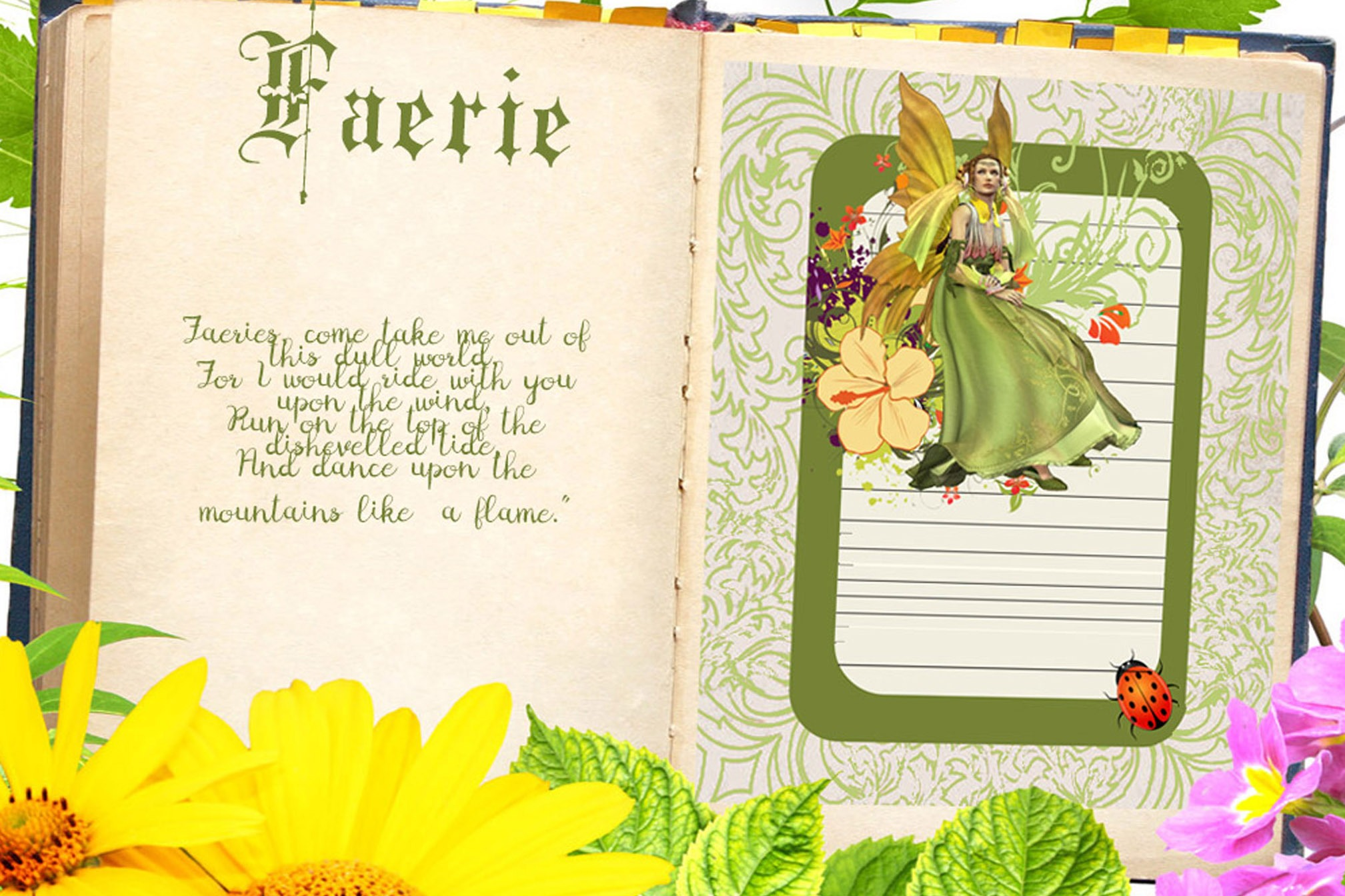 FAERIE JOURNAL Page for Book of Shadows