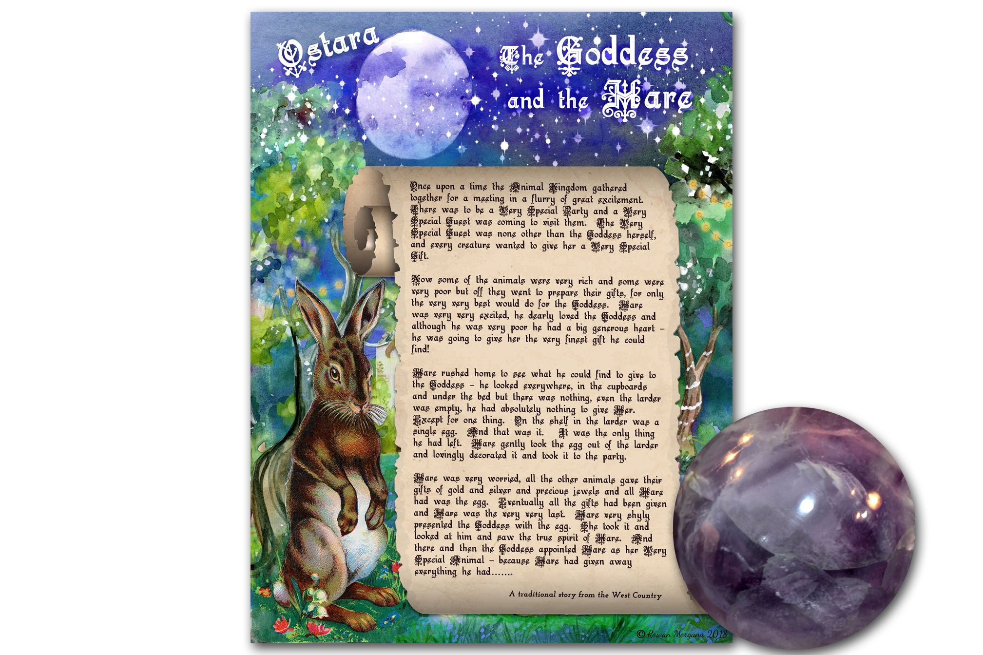 OSTARA FABLE - The Goddess and the Hare