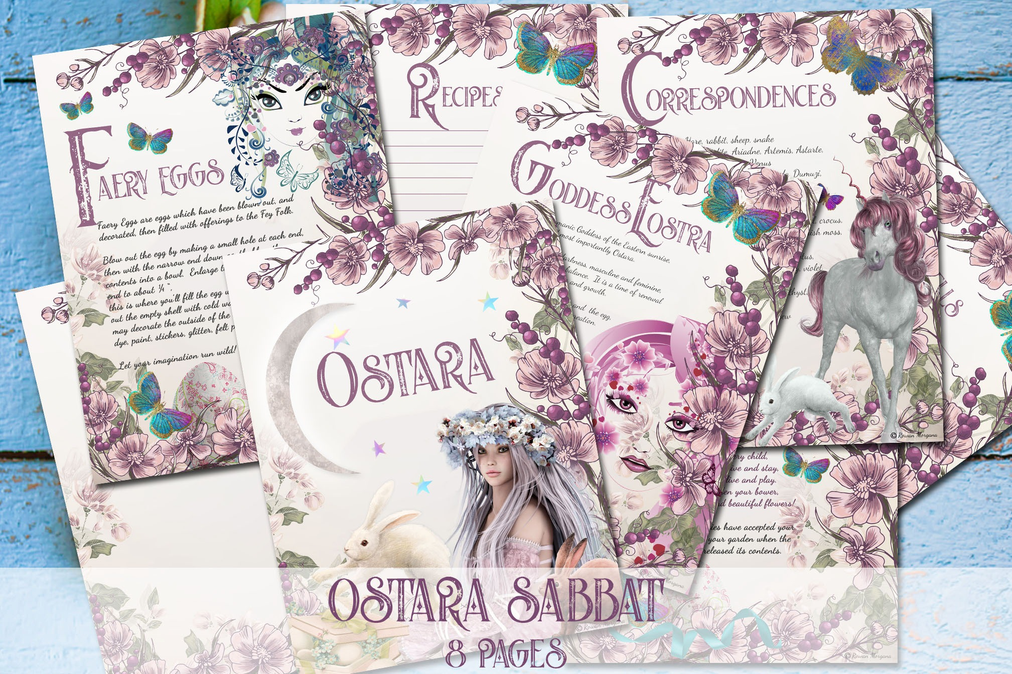 OSTARA SABBAT 8 Pages  for Book of Shadows