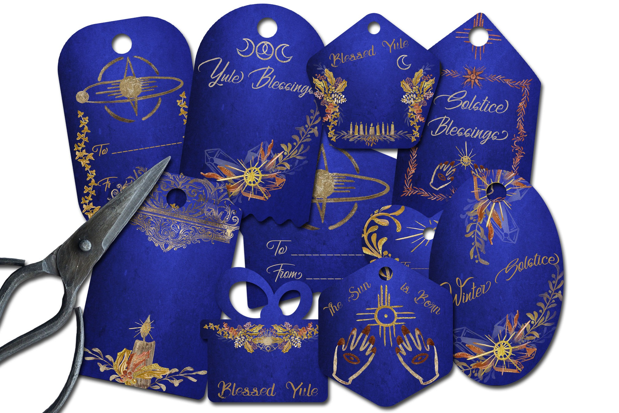 BLUE YULE  *10 Gift Tags*