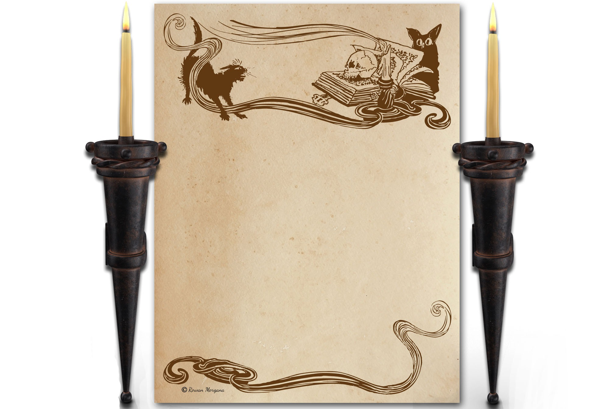 CAT & OWL Page for Book of Shadows