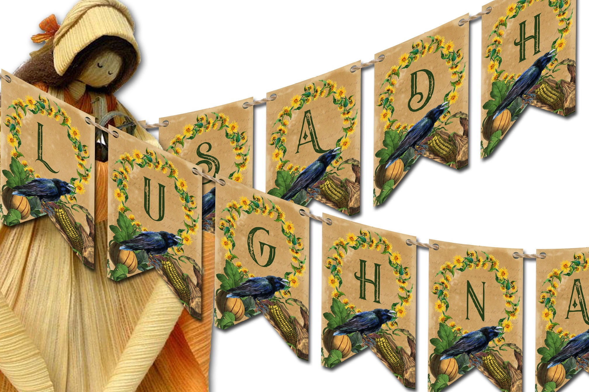 LUGHNASADH SABBAT BANNER  Fall  Bunting Decoration