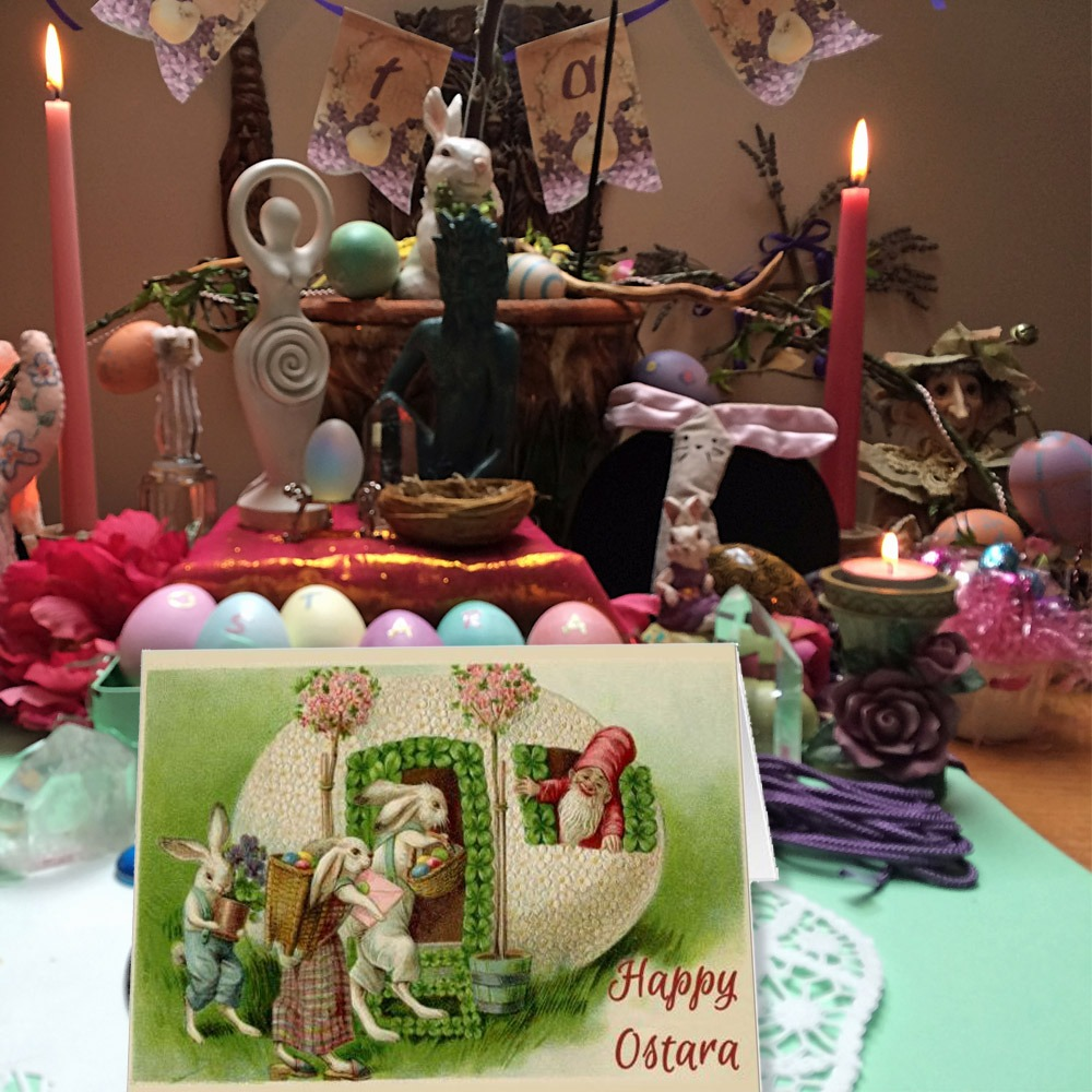 HAPPY OSTARA Pagan Greeting Card
