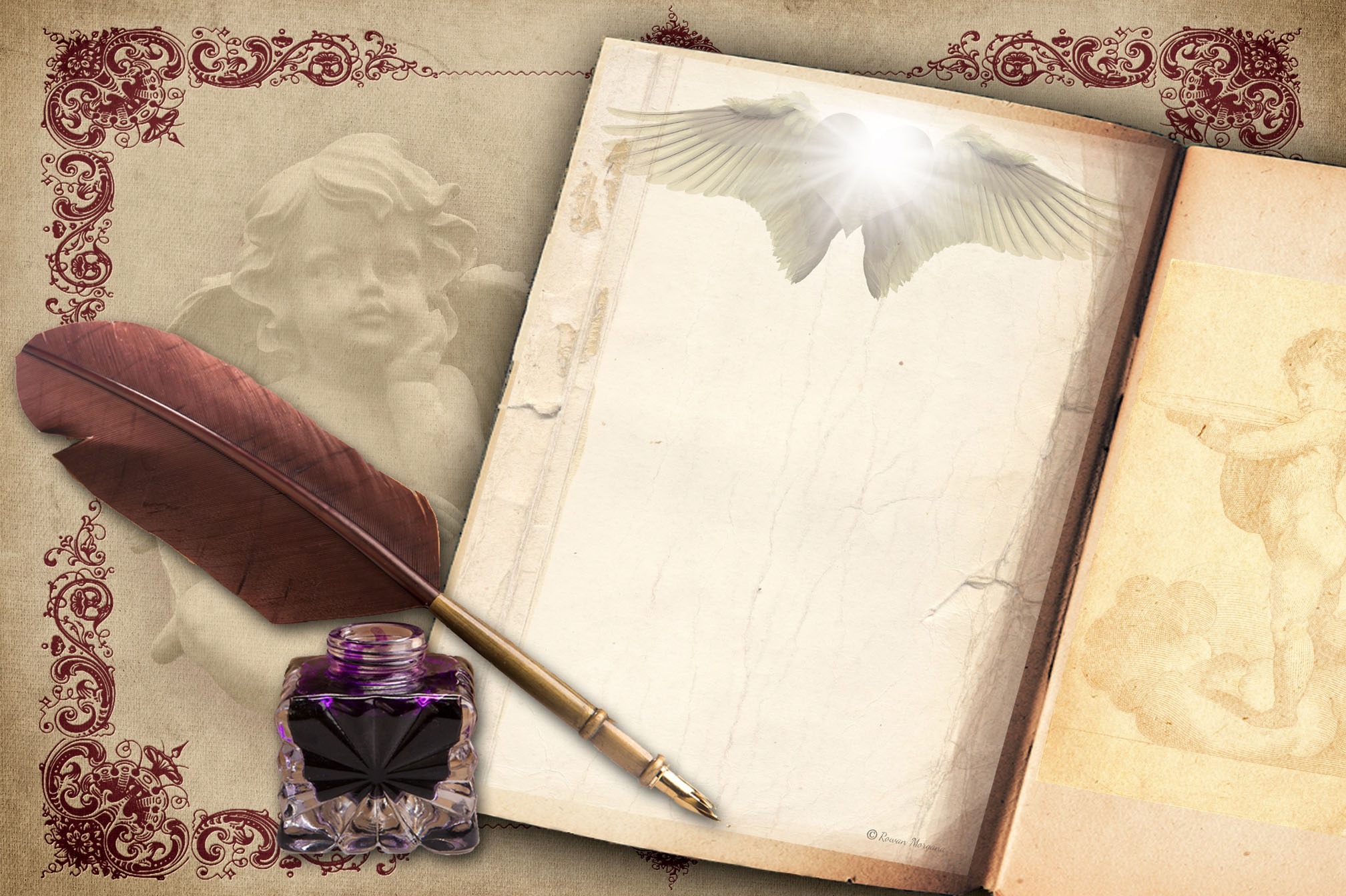 ANGEL WINGS Page for Book of Shadows