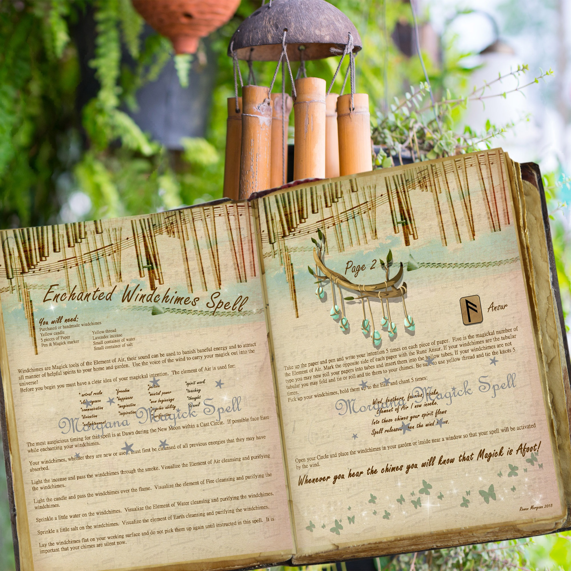 ENCHANTED WIND CHIMES SPELL