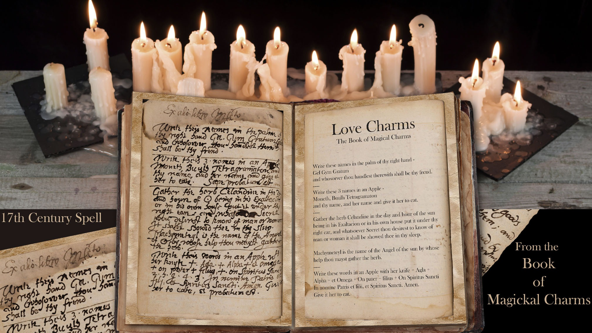 LOVE CHARMS Ancient Handwritten Spell
