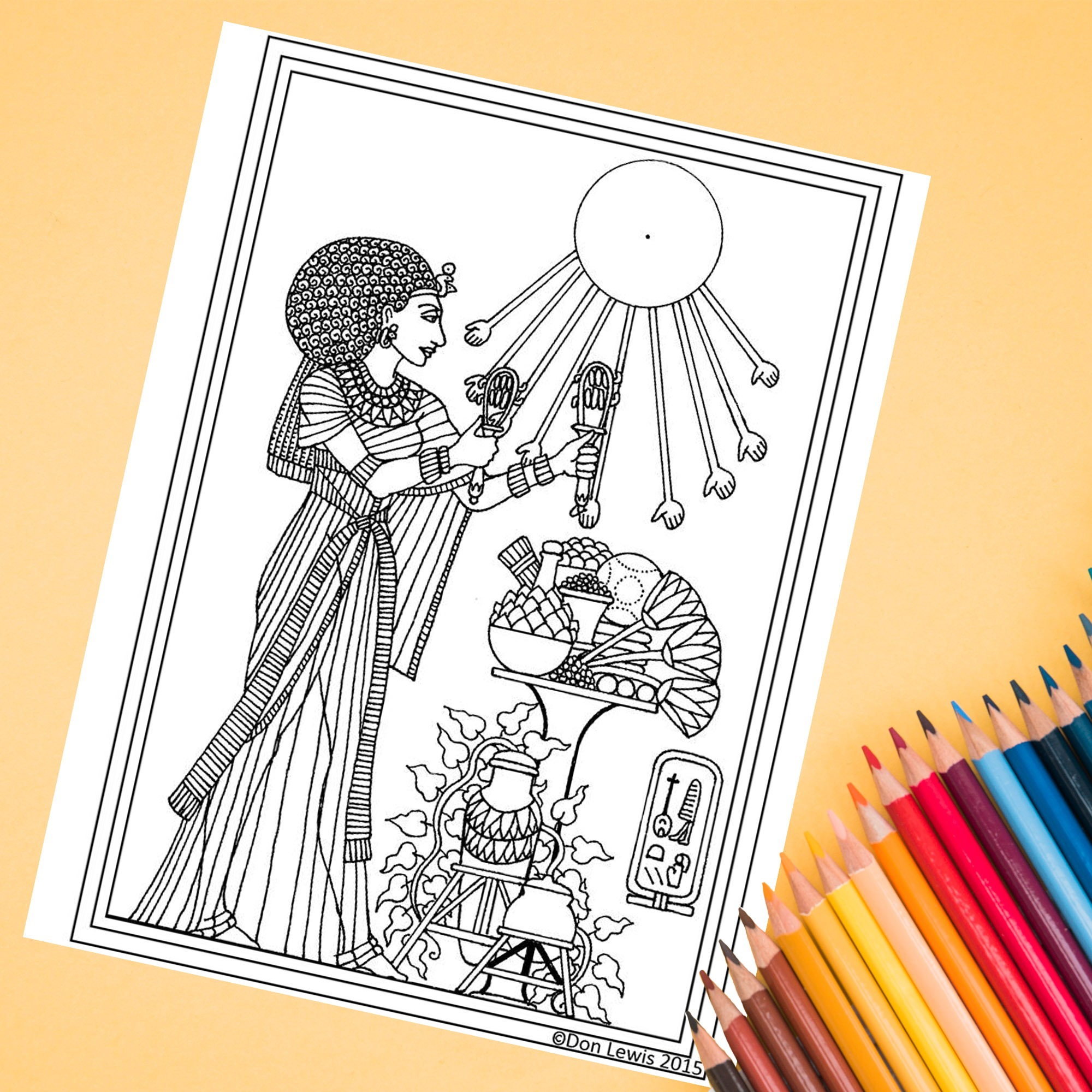 Isis Adult Coloring Page - FREE DOWNLOAD