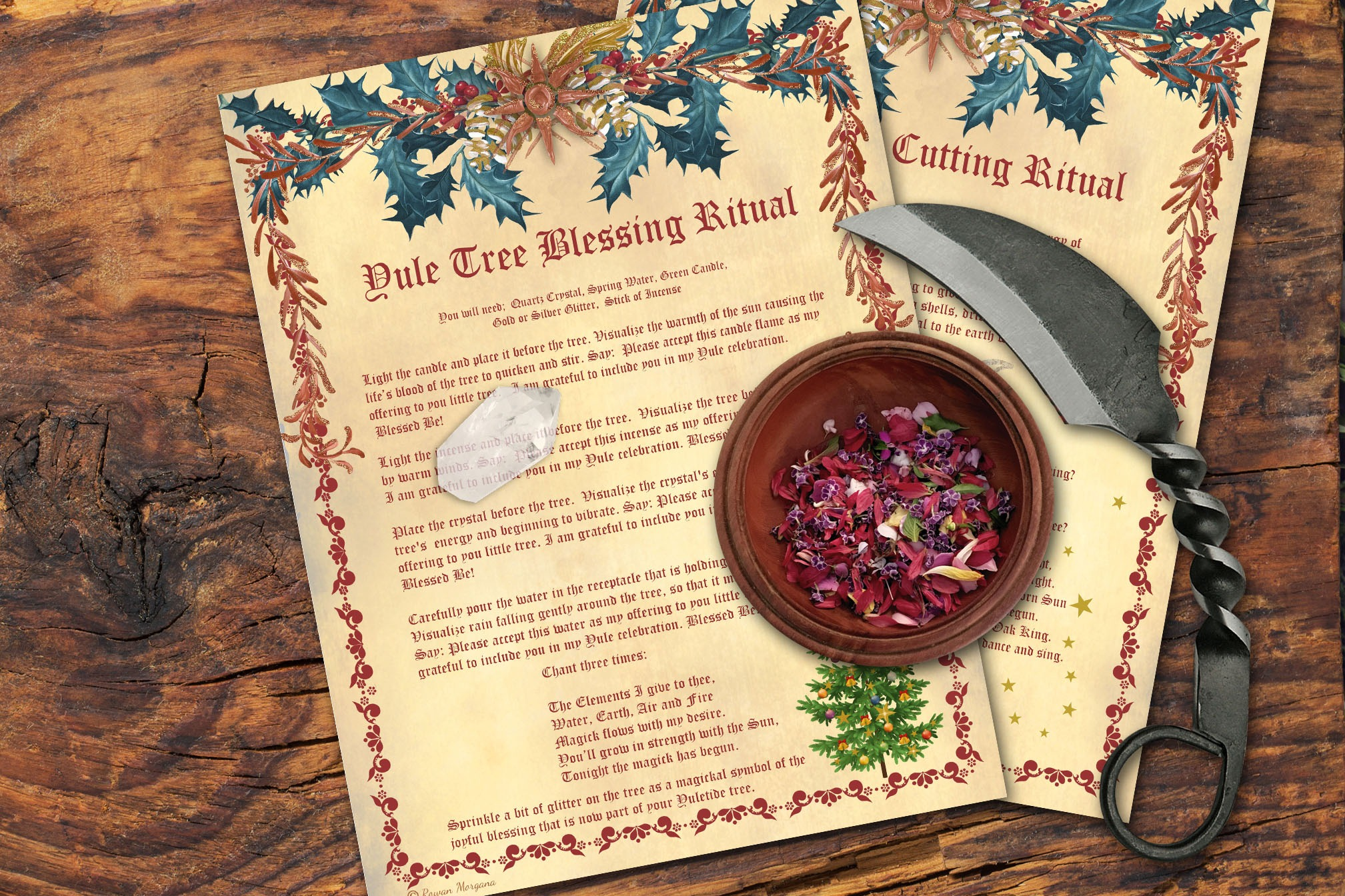 YULE TREE RITUALS - Cutting and Blessing