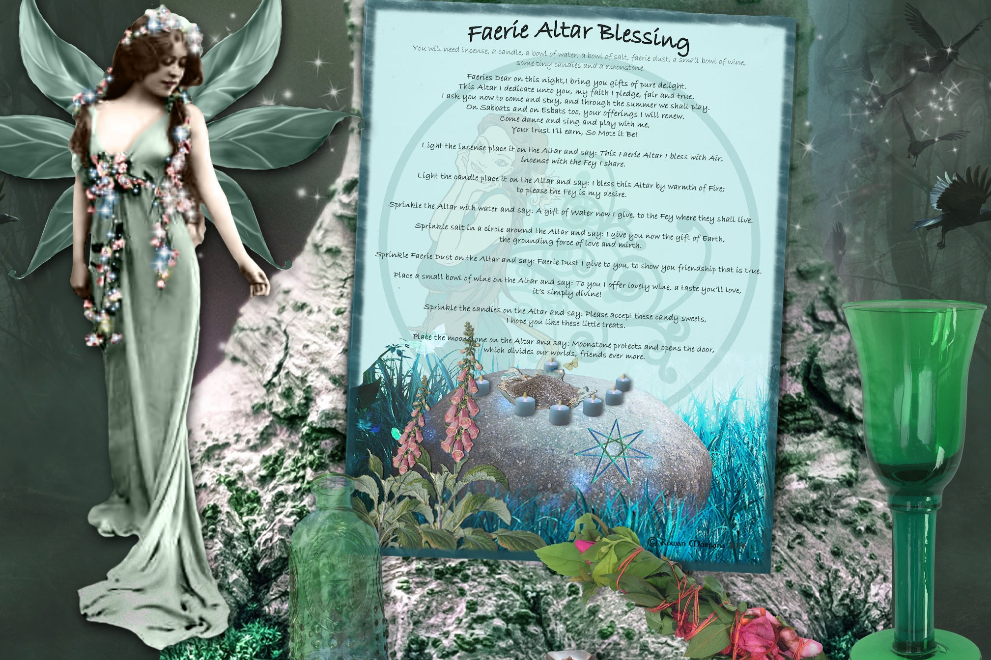 FAERIE ALTAR BLESSING Realm of the Fey Lore