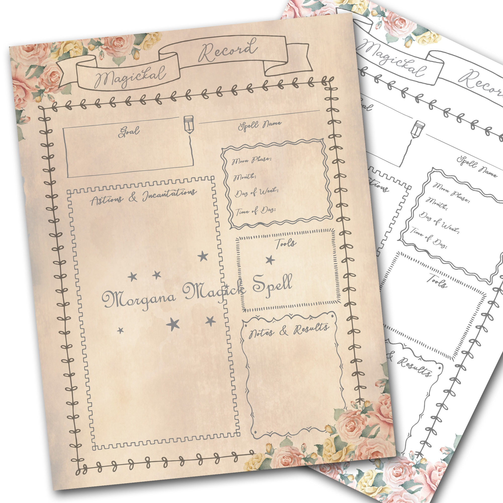 SPELL & RITUAL TEMPLATES - Keep a Record of Your Spells and Rituals