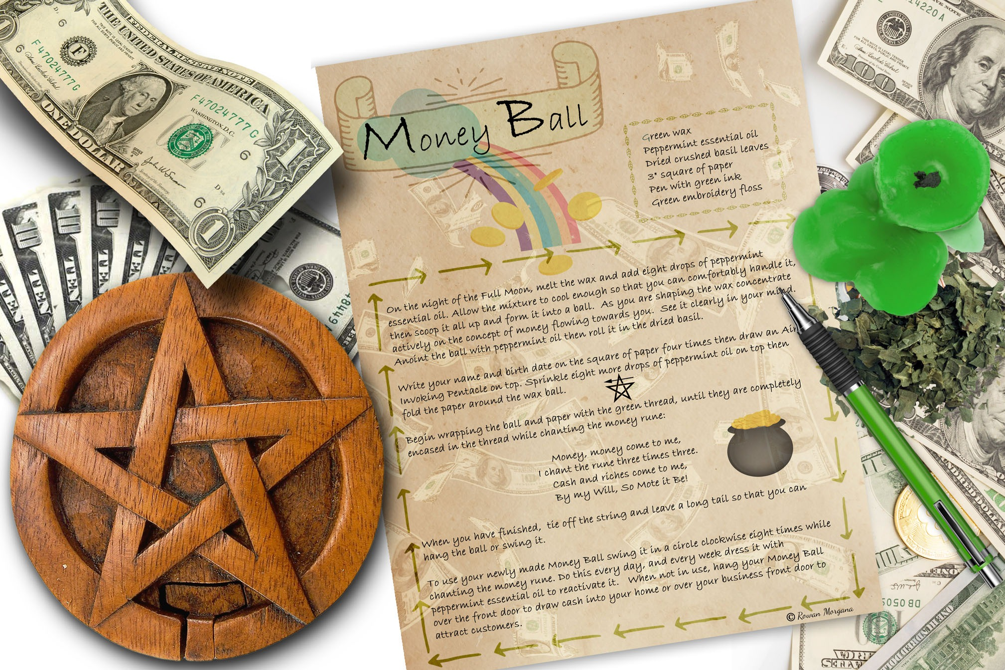 MONEY BALL a spell of riches