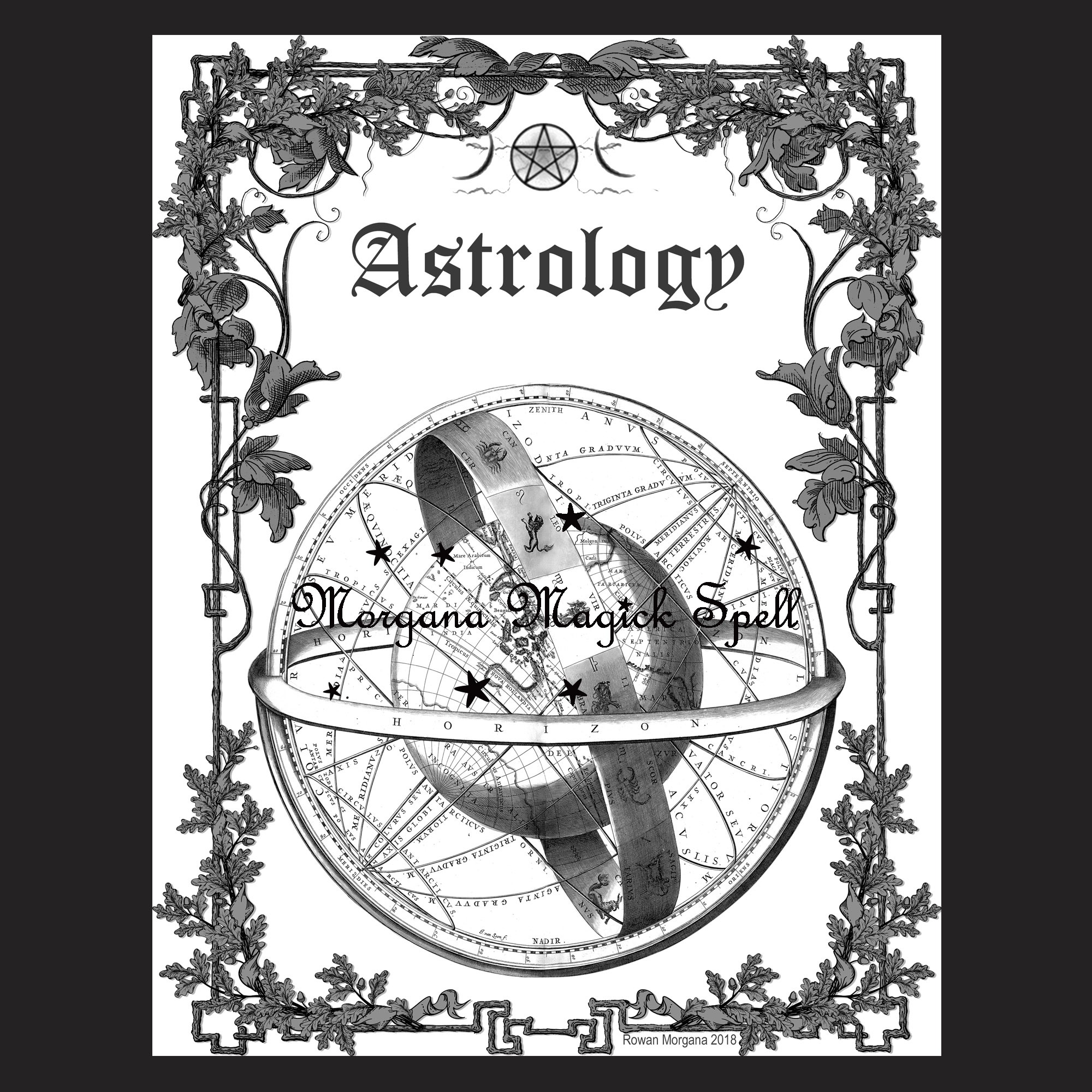 ASTROLOGY Book of Shadows Title Page