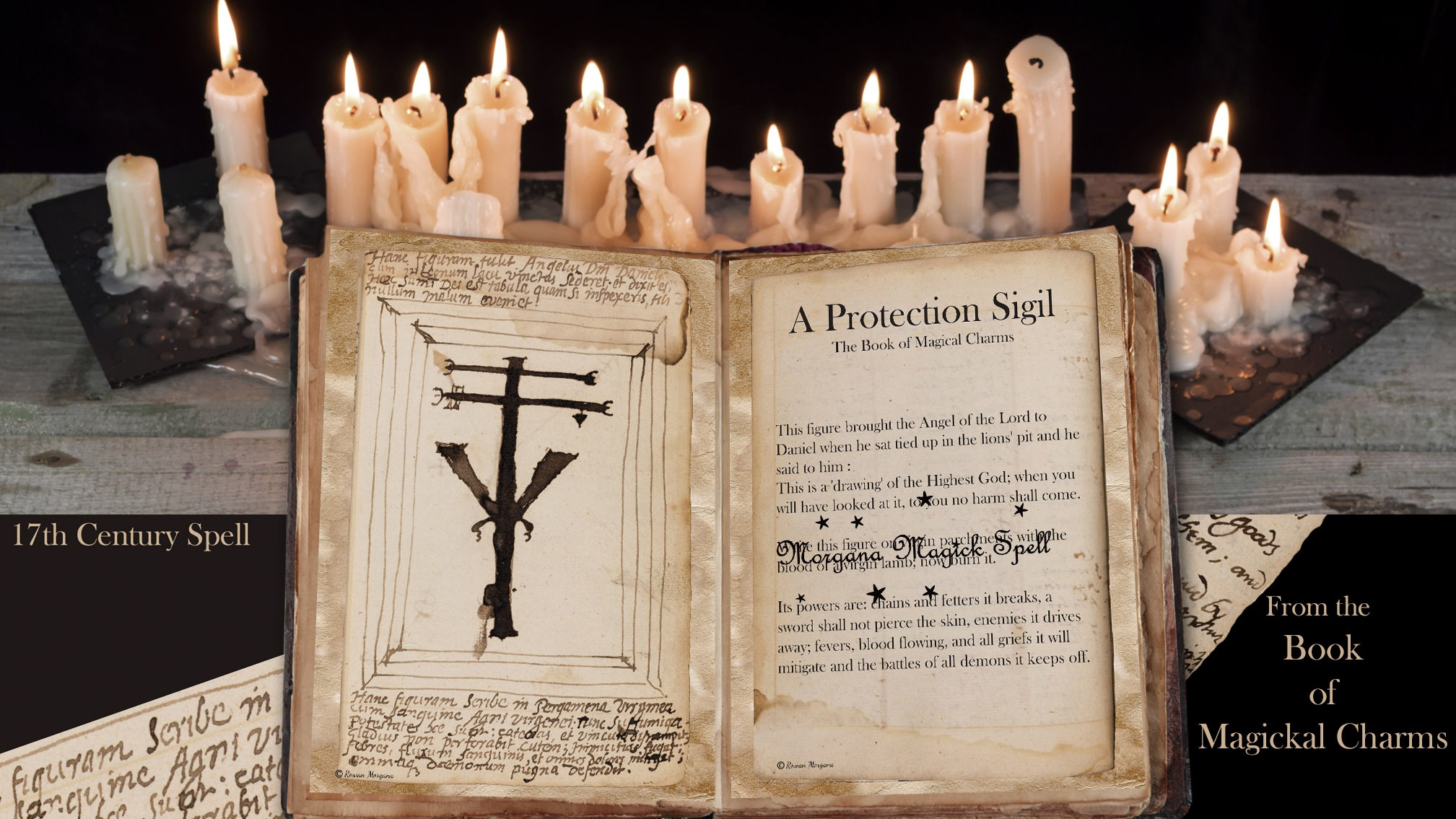 PROTECTION SIGIL  Ancient Handwritten  Spell