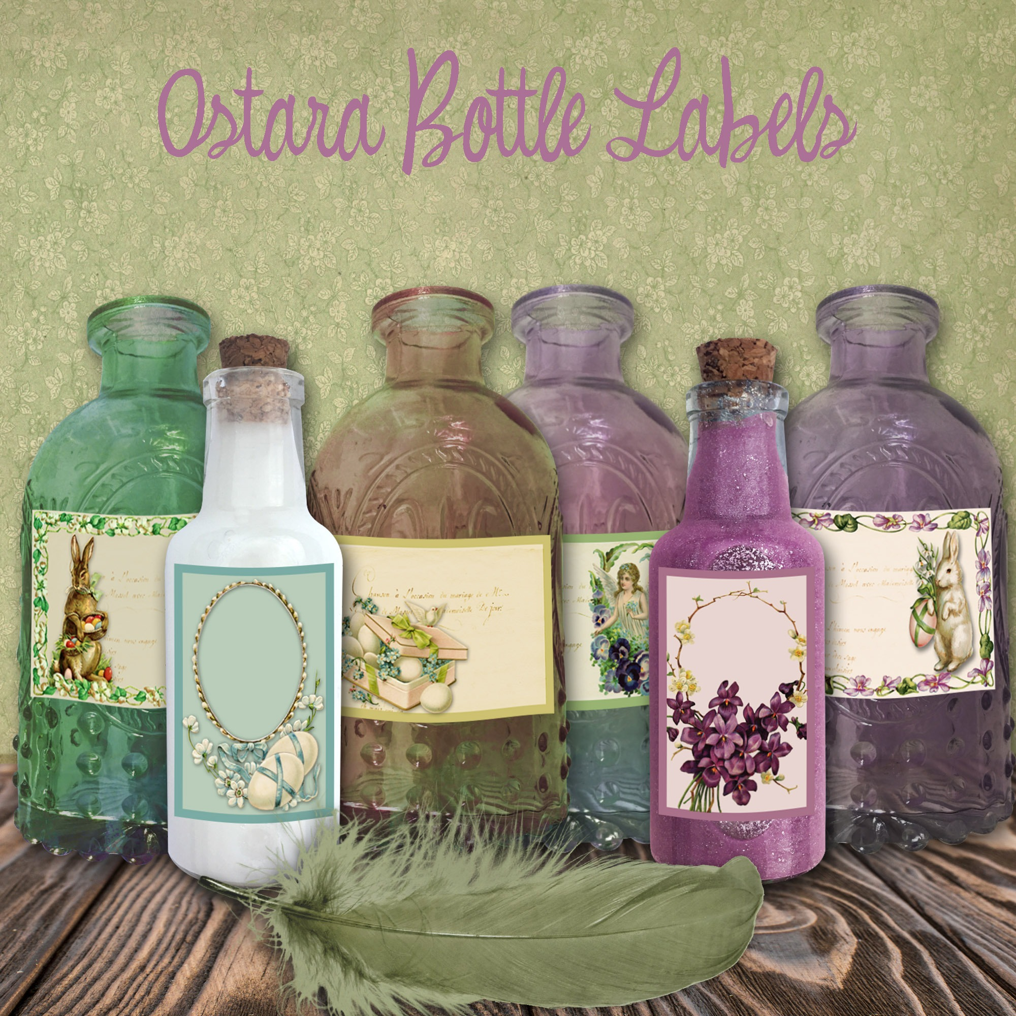 OSTARA APOTHECARY LABELS  - 6 Labels
