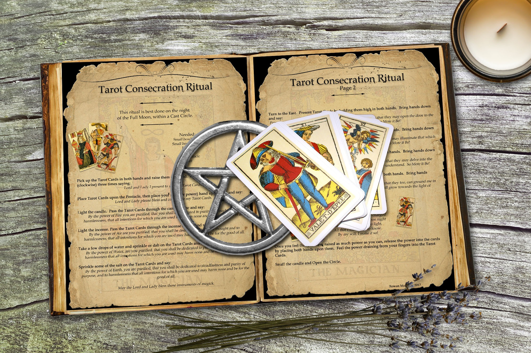 TAROT CONSECRATION RITUAL - 2 pages