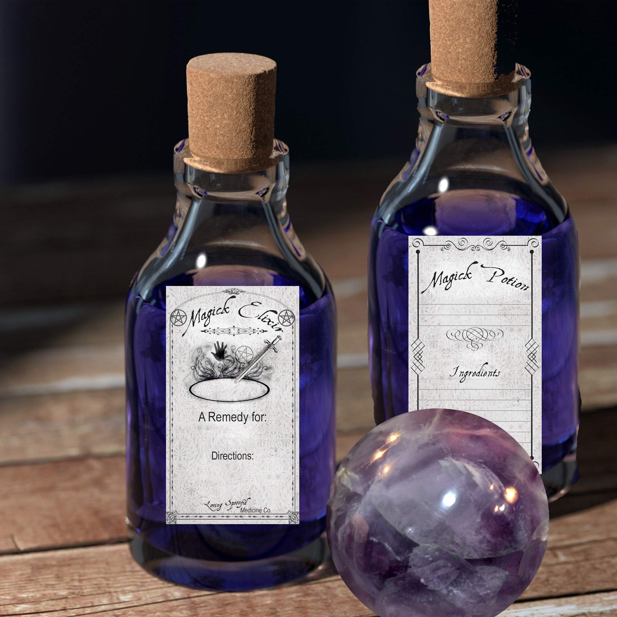 WITCHCRAFT SPELL LABELS - 30 Labels